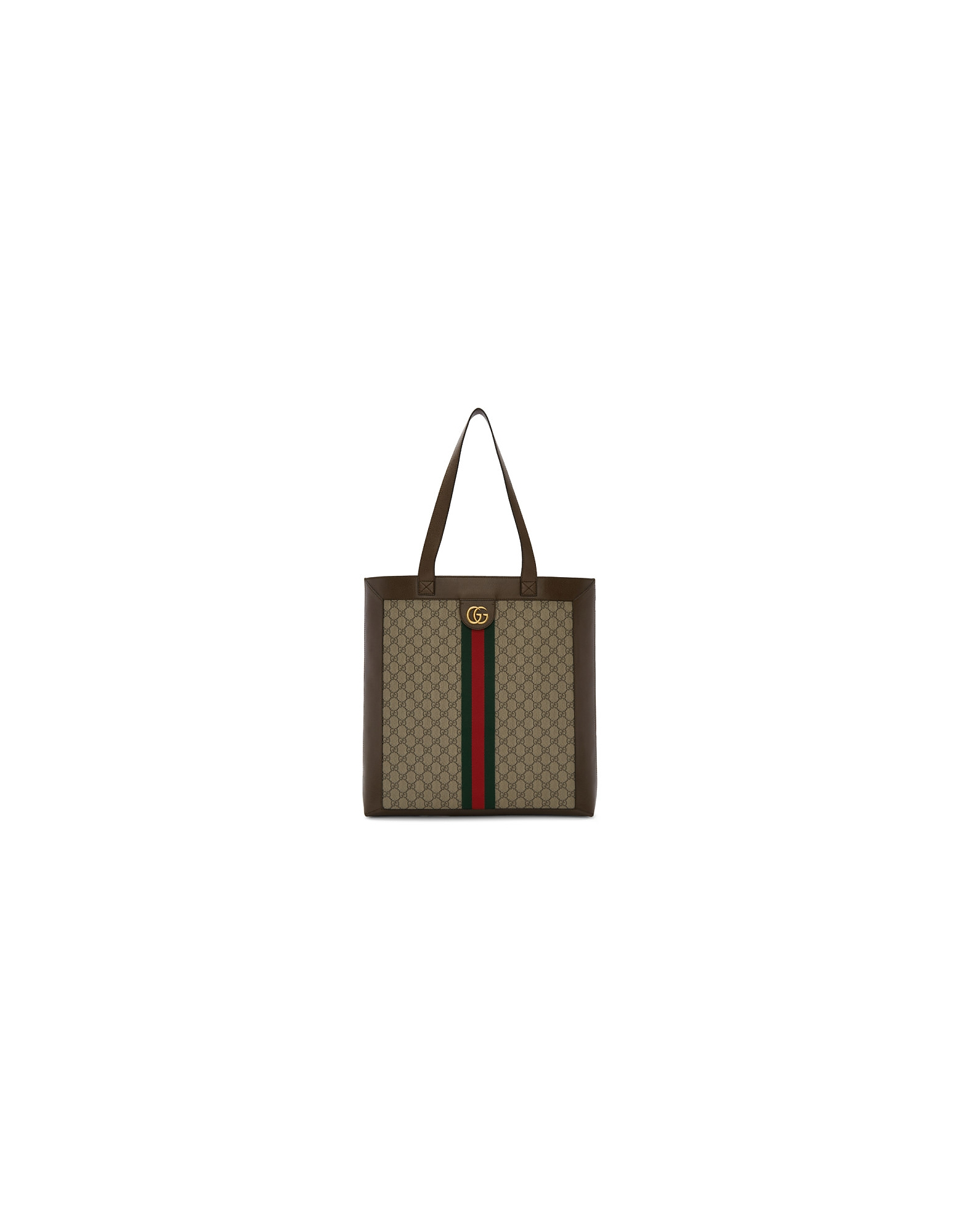 Gucci Designer Handbags, Brown and Beige GG Ophidia Tote