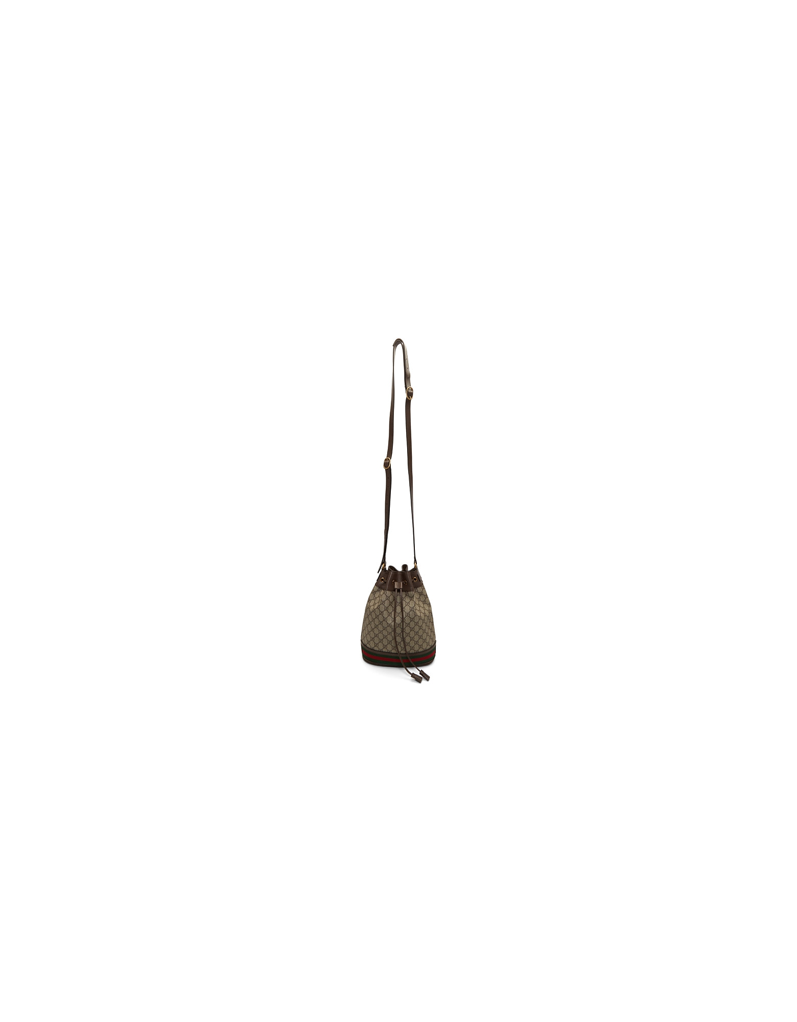 Gucci Designer Handbags, Brown GG Supreme Ophidia Bucket Bag