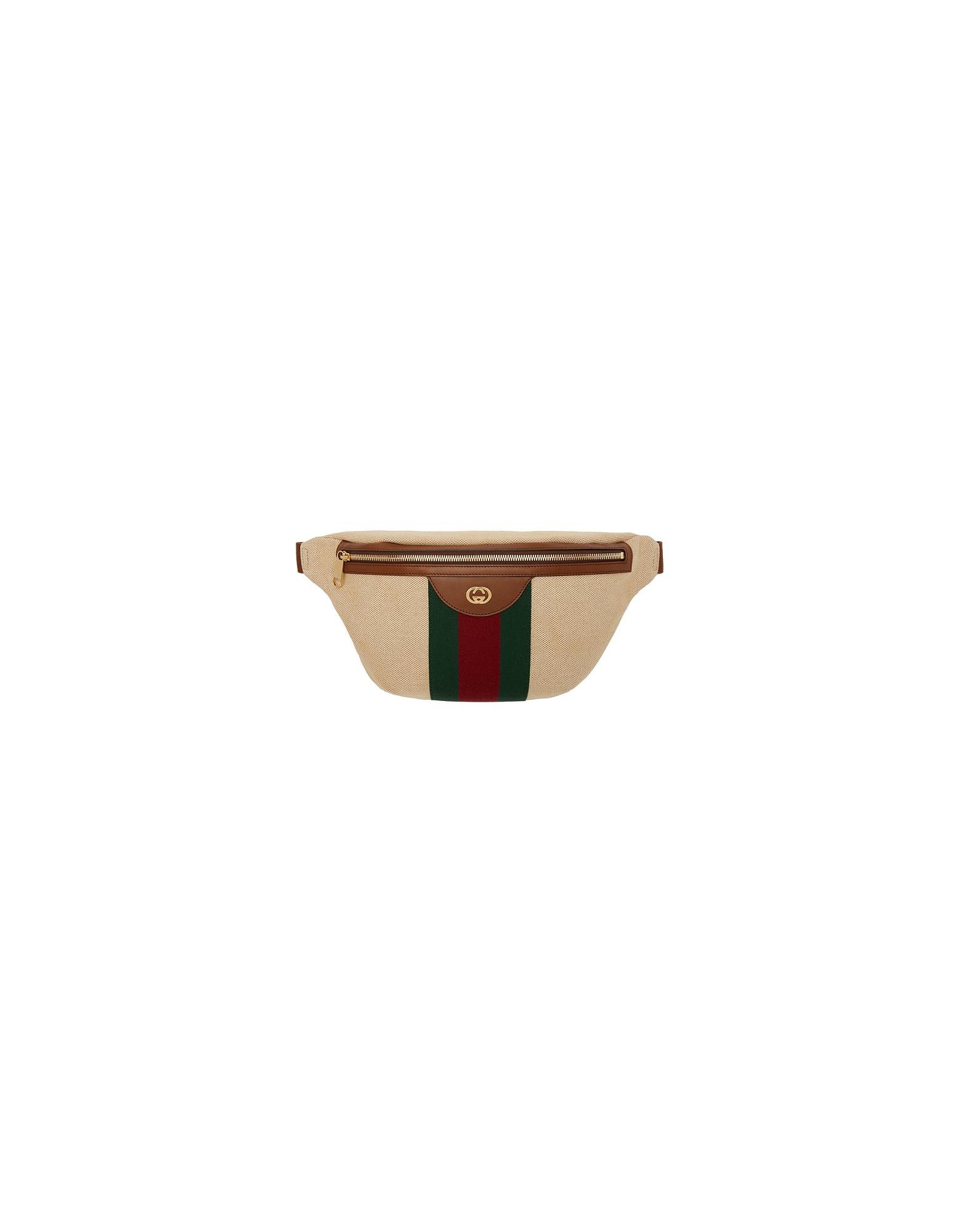 Gucci Designer Handbags, Beige GG Vintage Belt Bag