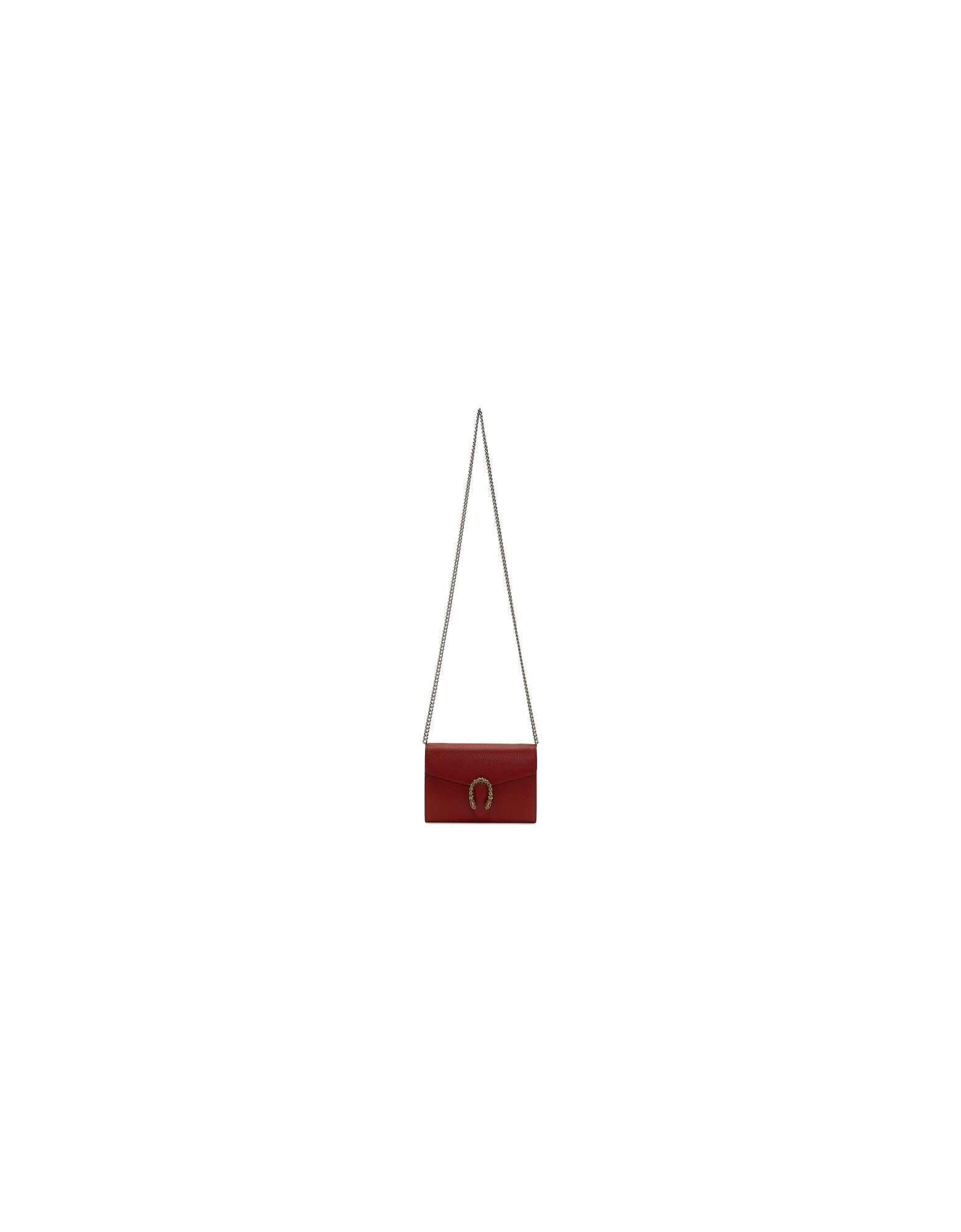 Gucci Designer Handbags, Red Mini Dionysus Wallet Chain Bag
