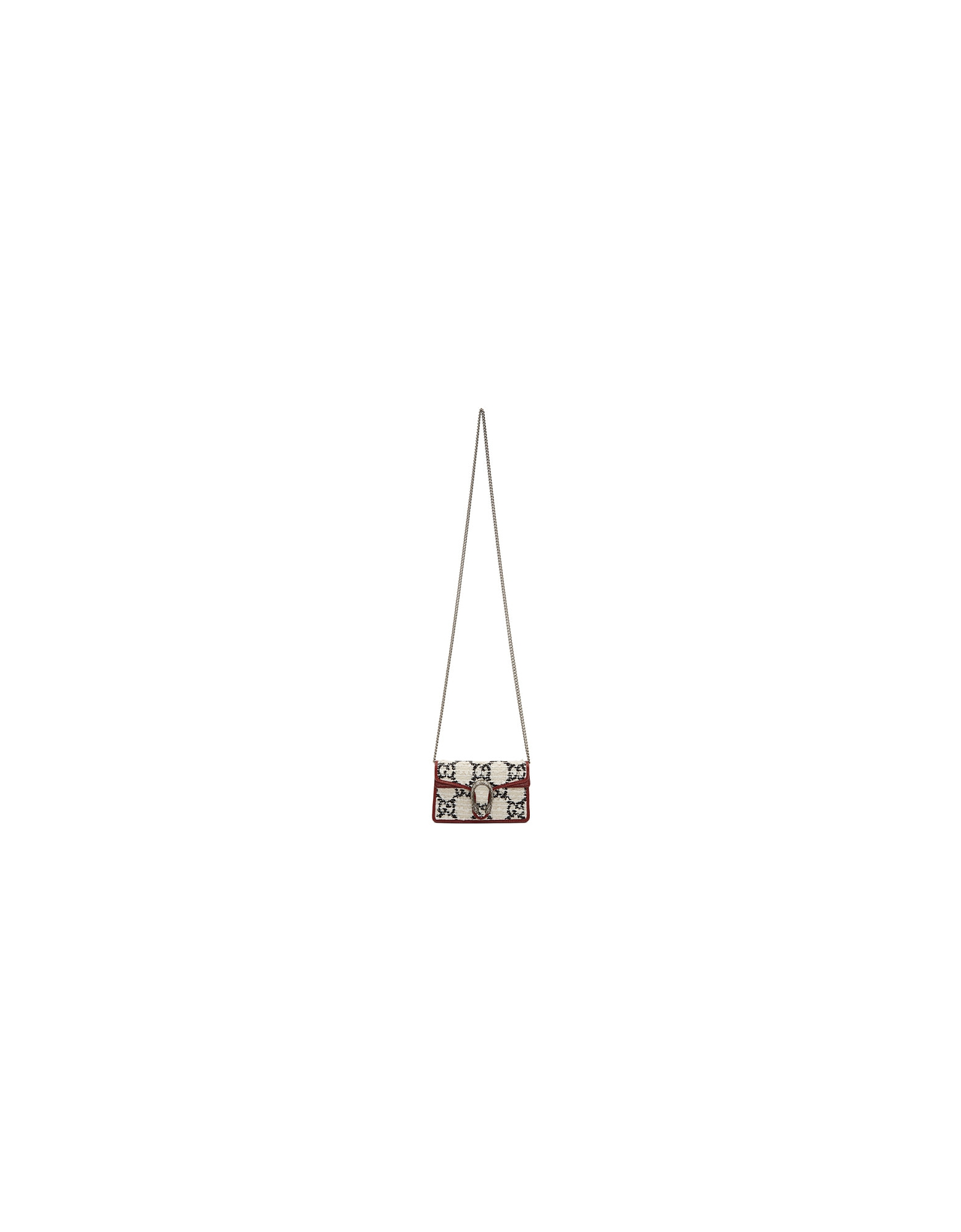 Gucci Designer Handbags, Off-White Tweed Super Mini Dionysus Bag