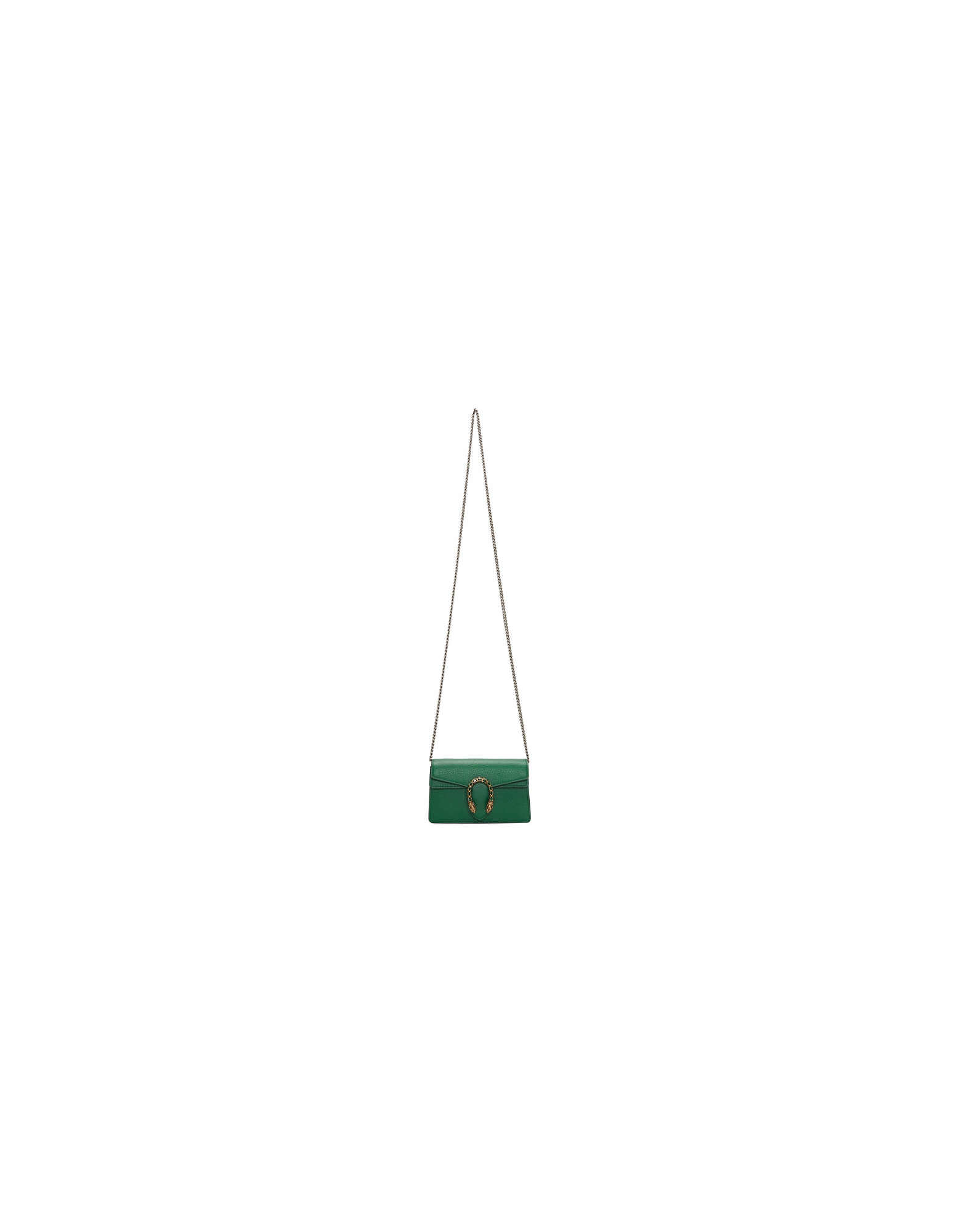 Gucci Designer Handbags, Green Super Mini Dionysus Bag