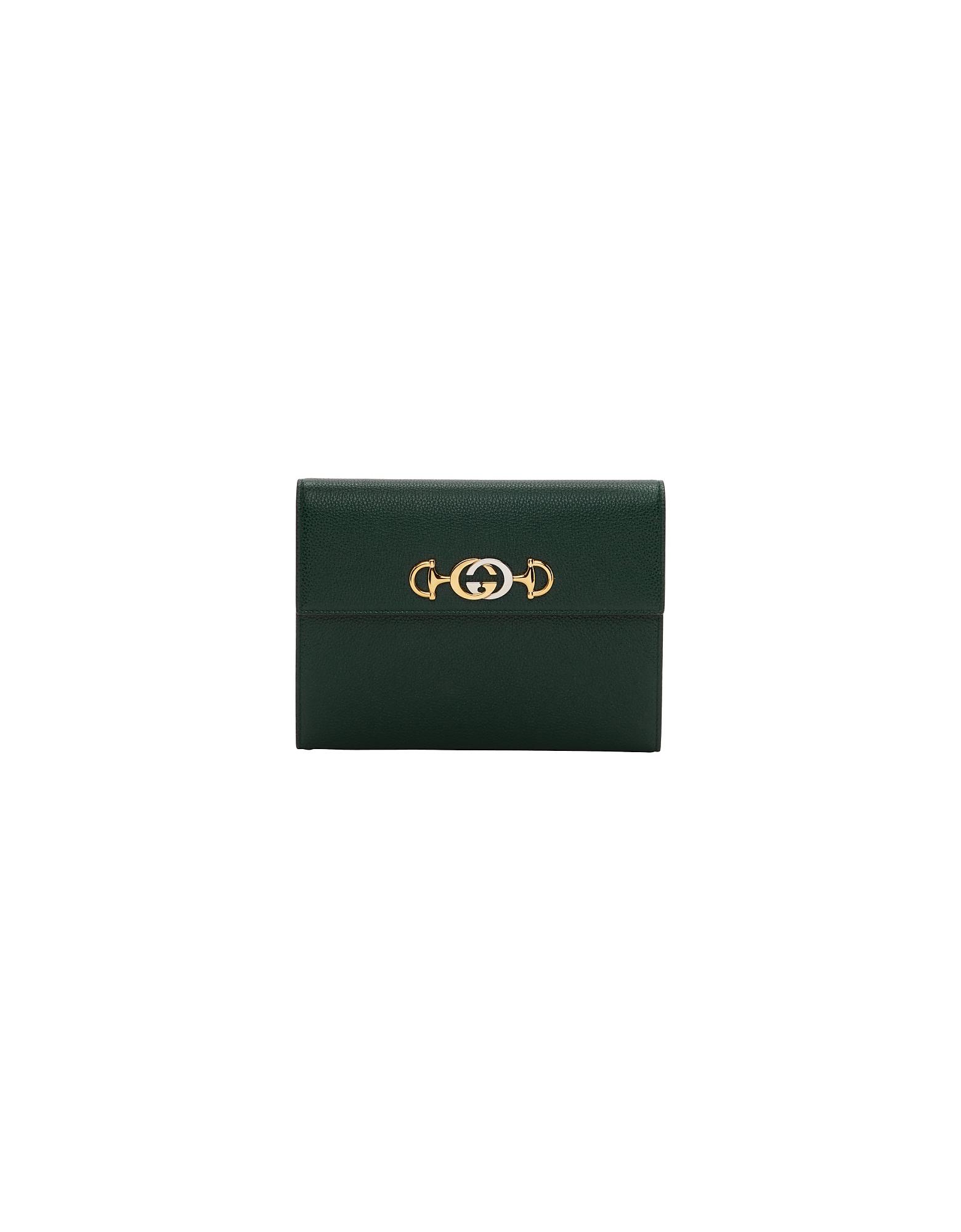 Gucci Designer Handbags, Green Zumi Pouch