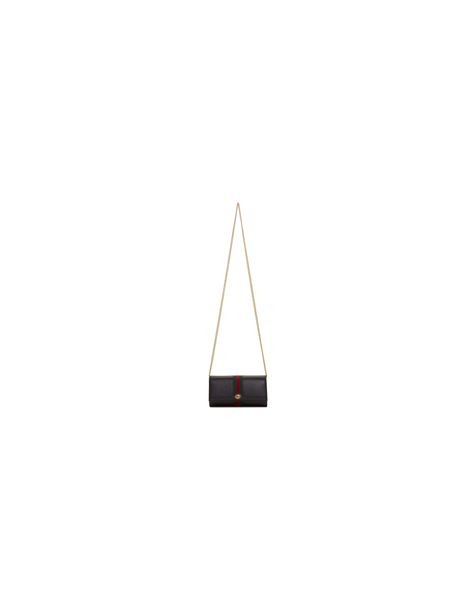 Gucci Designer Handbags, Black Ophidia Continental Wallet Bag