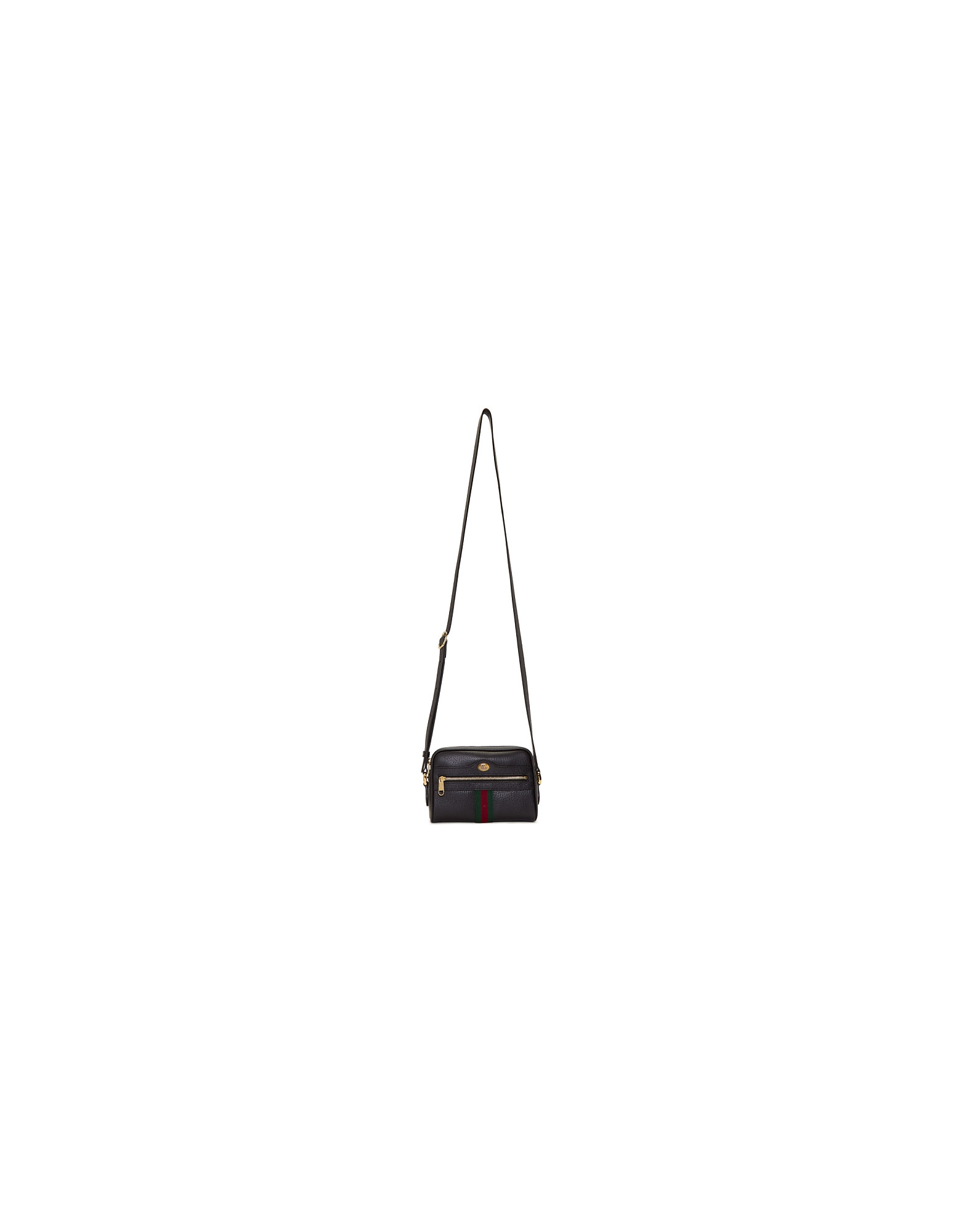 Gucci Designer Handbags, Black Mini Ophidia Bag