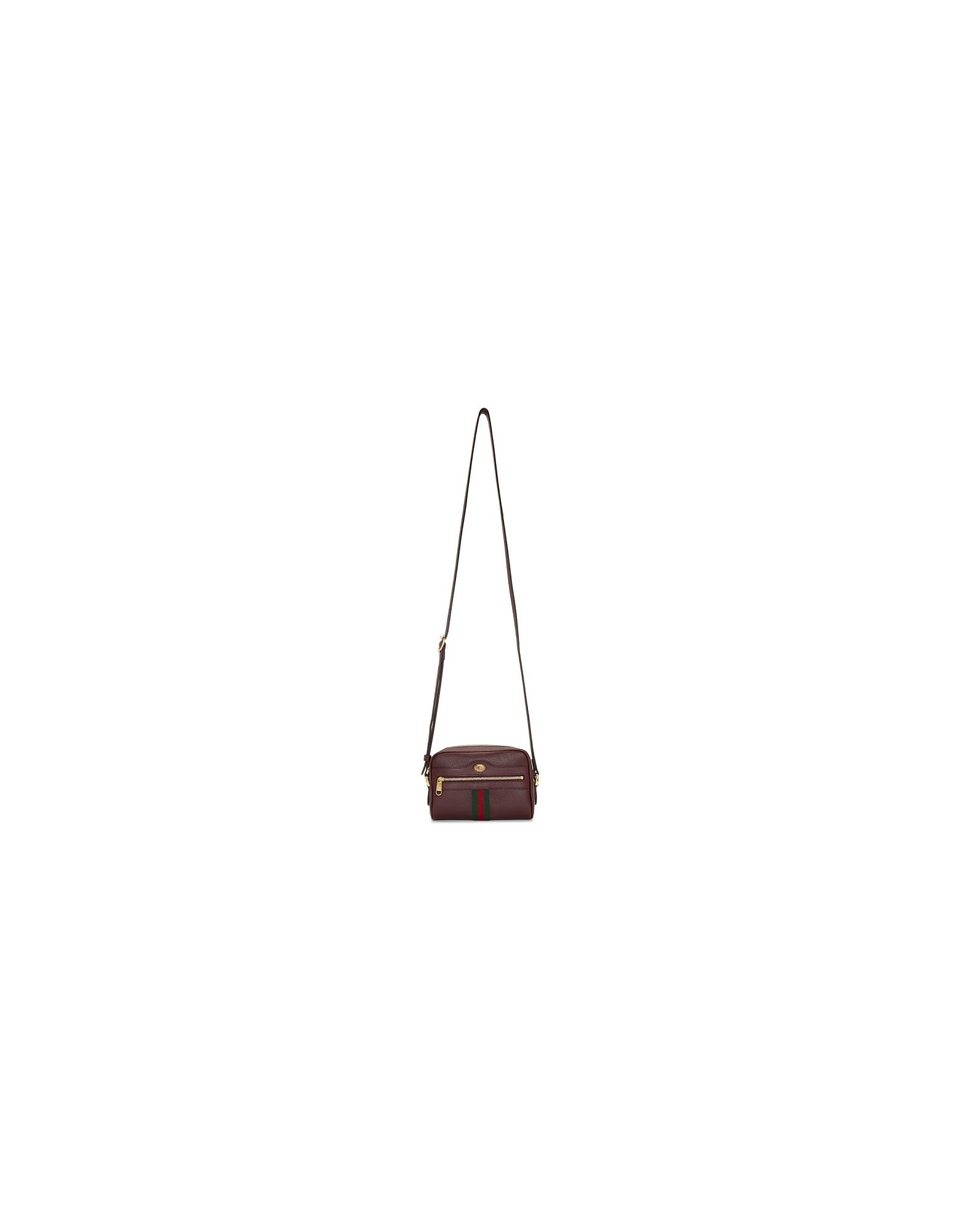 Gucci Designer Handbags, Burgundy Ophidia Shoulder Bag