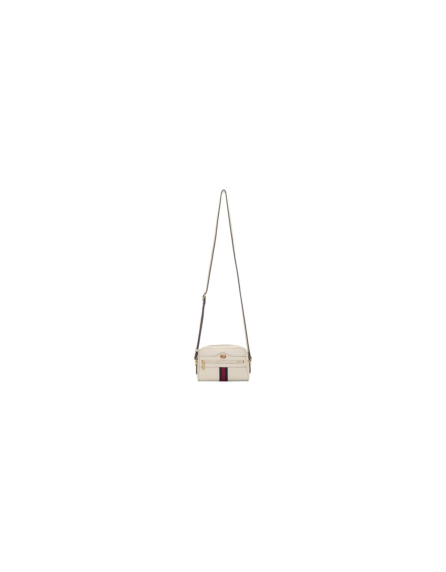 Gucci Designer Handbags, White Mini Ophidia Bag