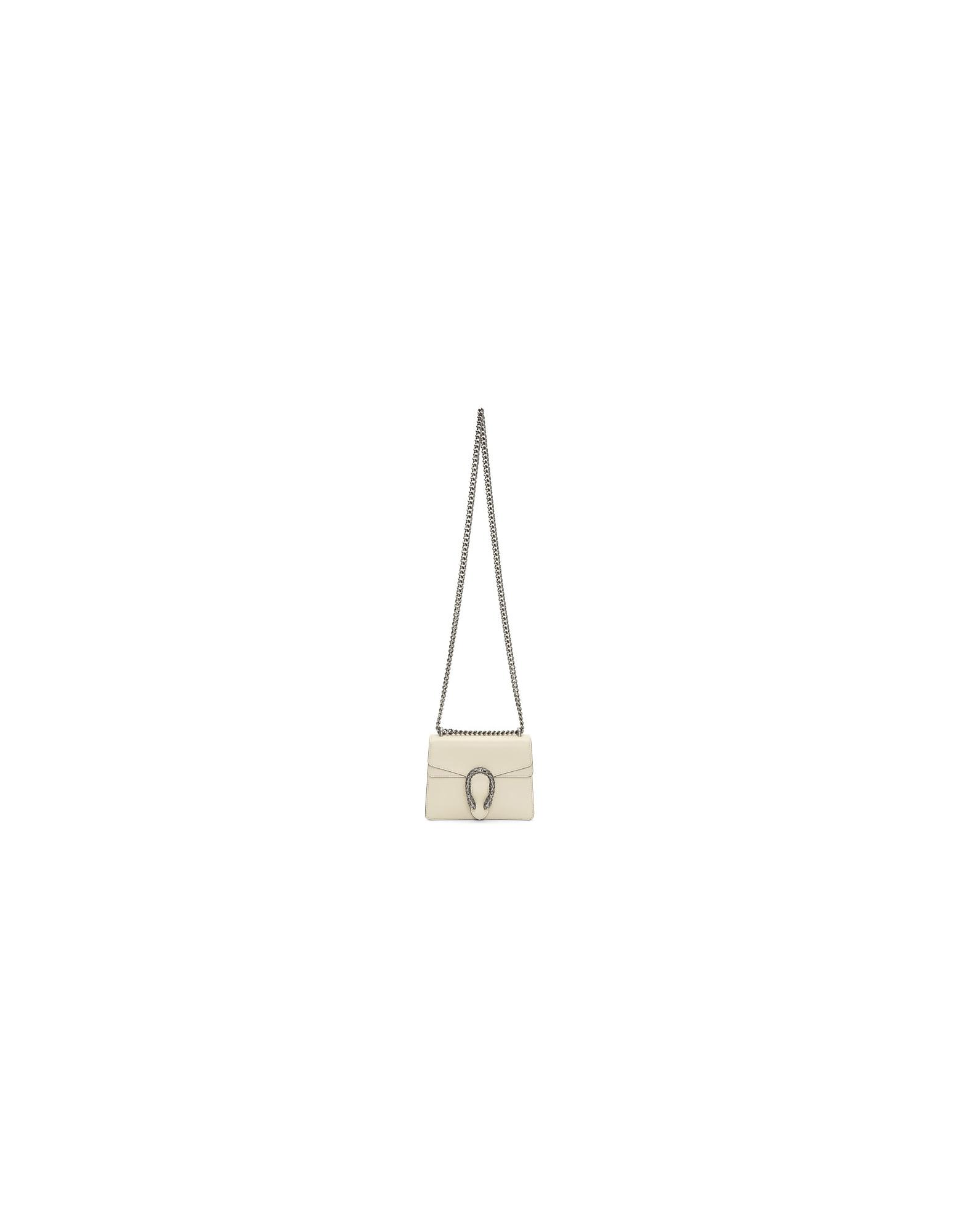 Gucci Designer Handbags, White Mini Dionysus Chain Bag