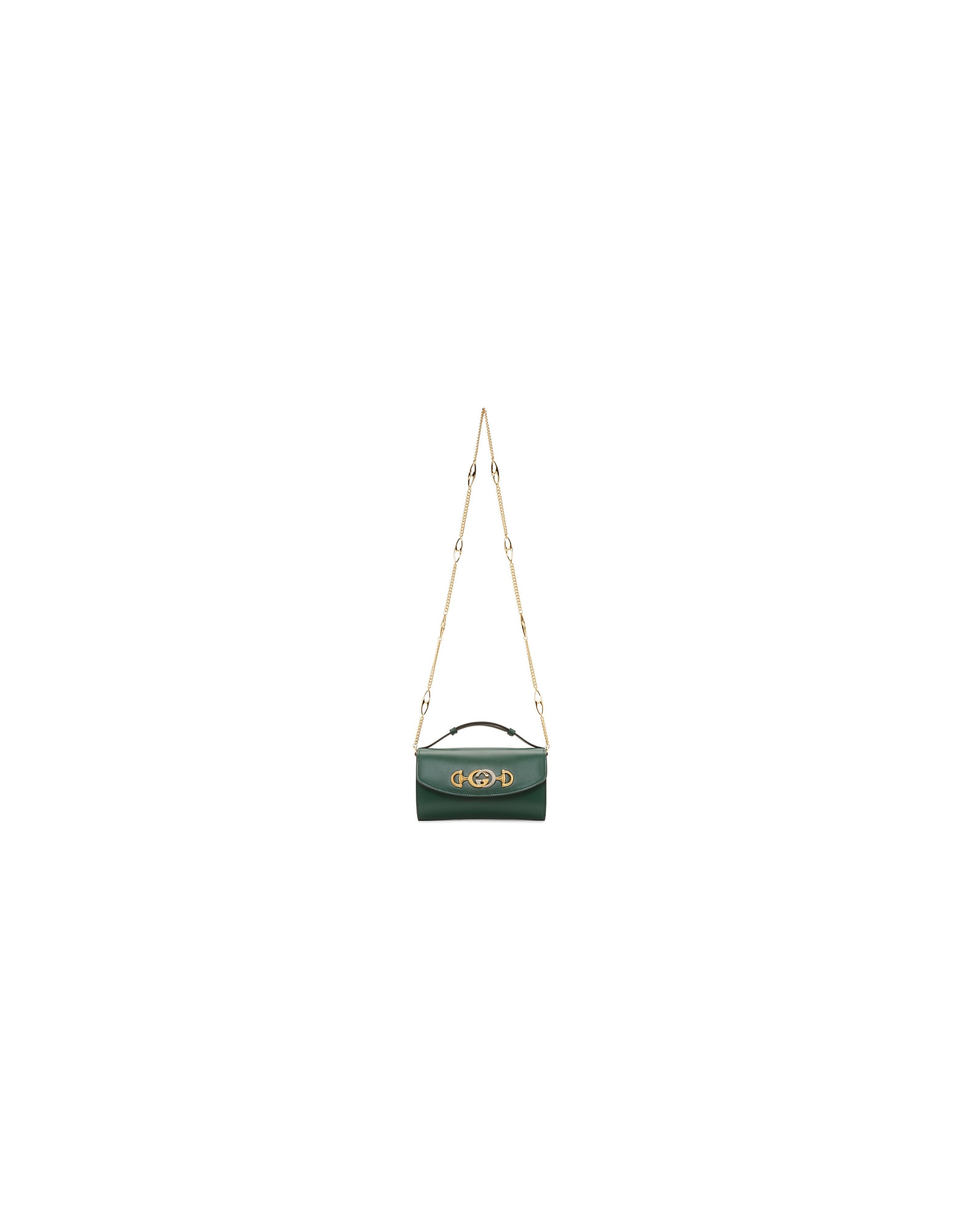Gucci Designer Handbags, Green Mini Zumi Bag