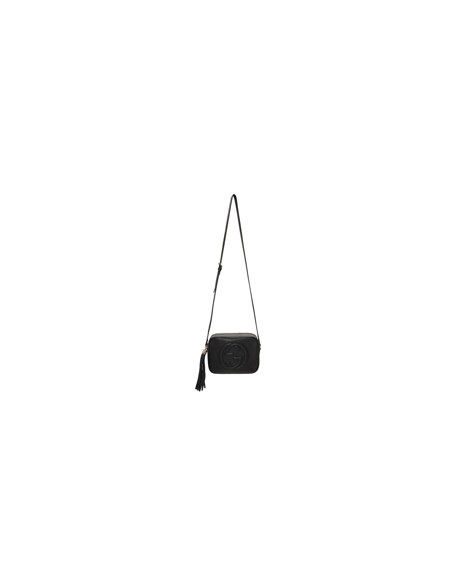 Gucci Designer Handbags, Black Small Soho Disco Bag