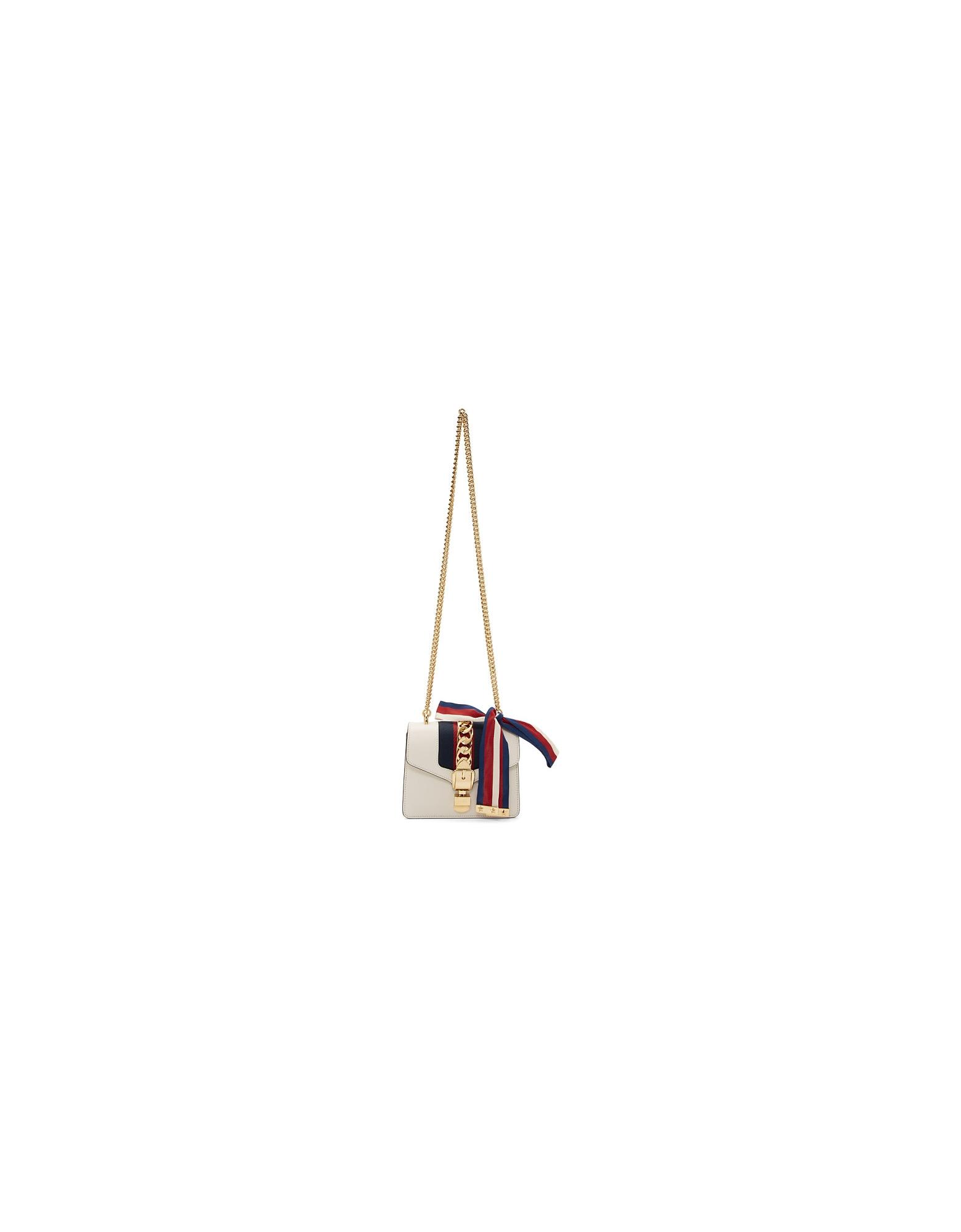 Gucci Designer Handbags, White Mini Sylvie Bag