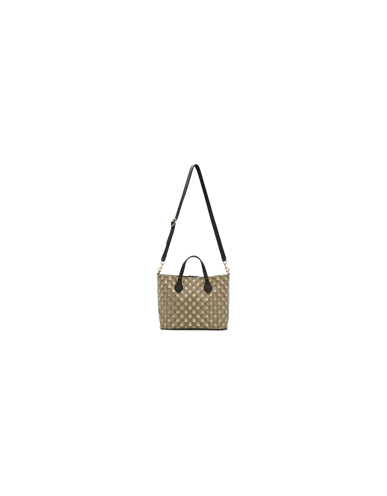 Gucci Designer Handbags, Beige GG Supreme Bestiary Tote