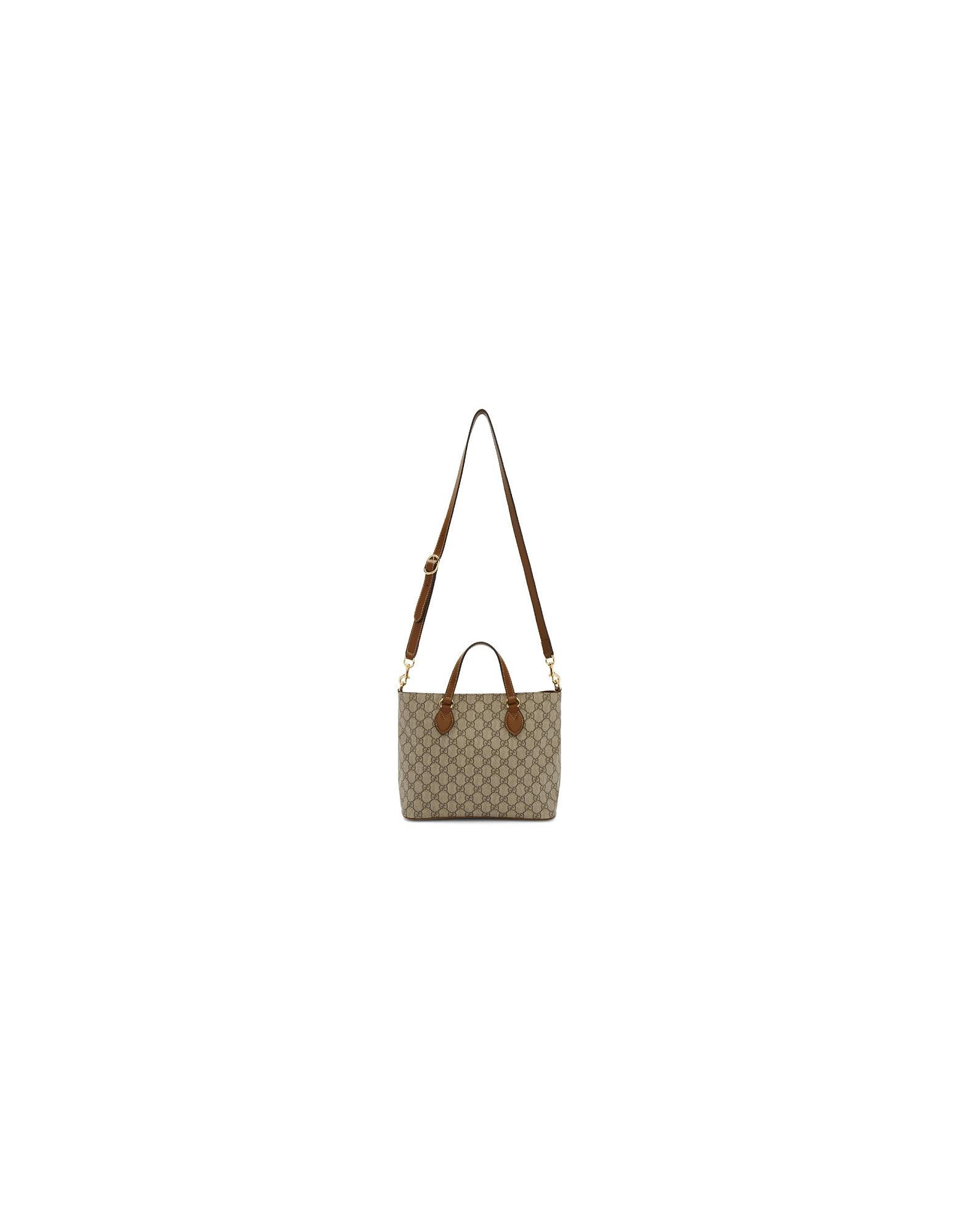 Gucci Designer Handbags, Beige GG Supreme Eden Tote