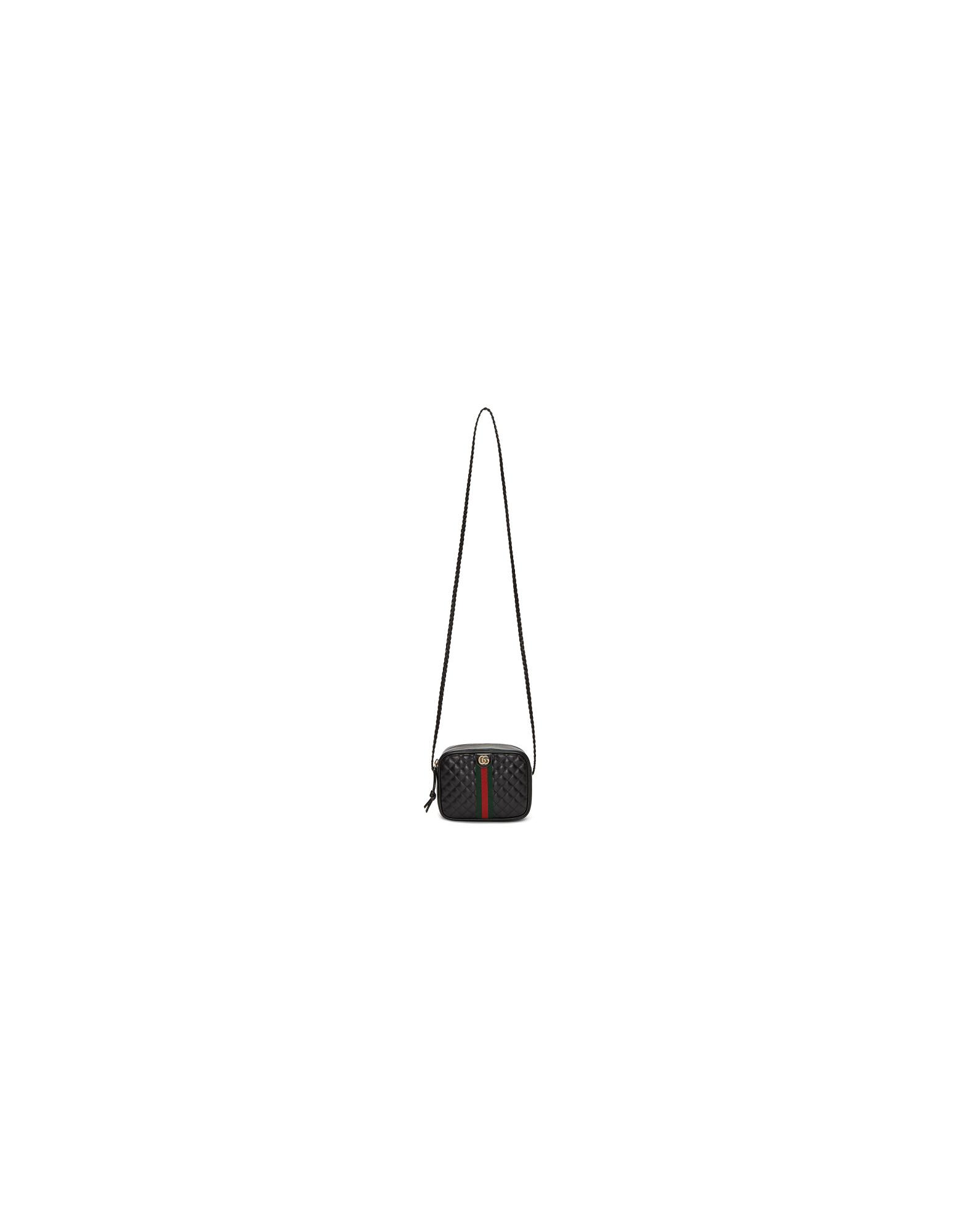 Gucci Designer Handbags, Black Small Quilted Shoulder Bag