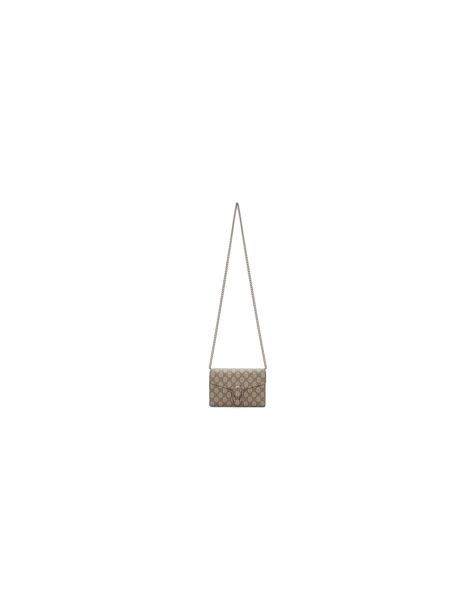 Gucci Designer Handbags, Beige GG Dionysus Wallet Bag