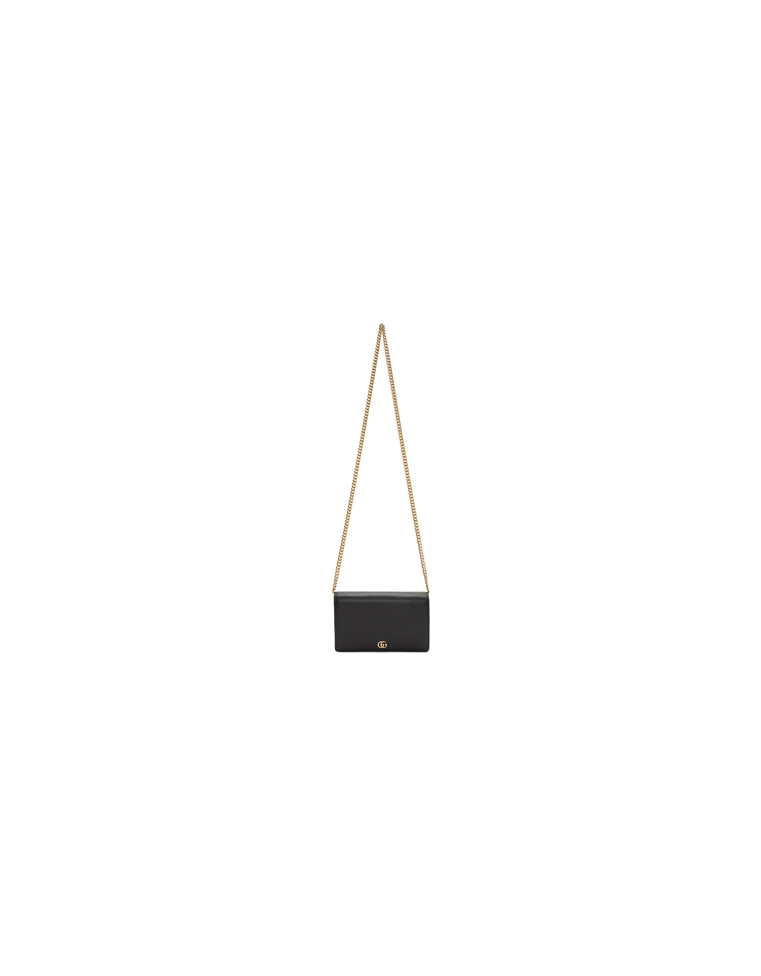 Gucci Designer Handbags, Black Small Marmont Chain Bag