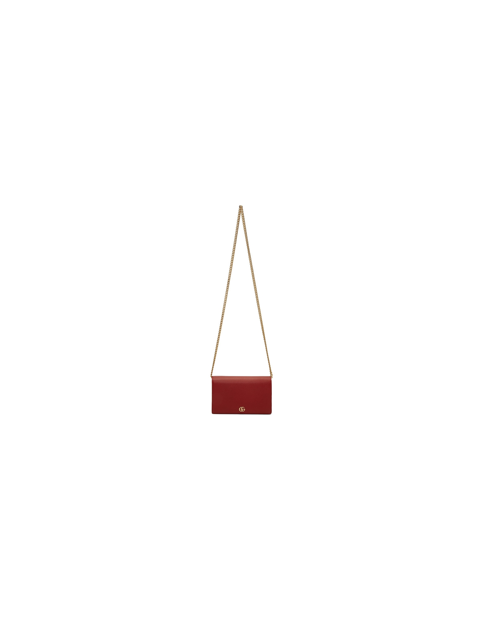 Gucci Designer Handbags, Red Mini GG Marmont Chain Bag
