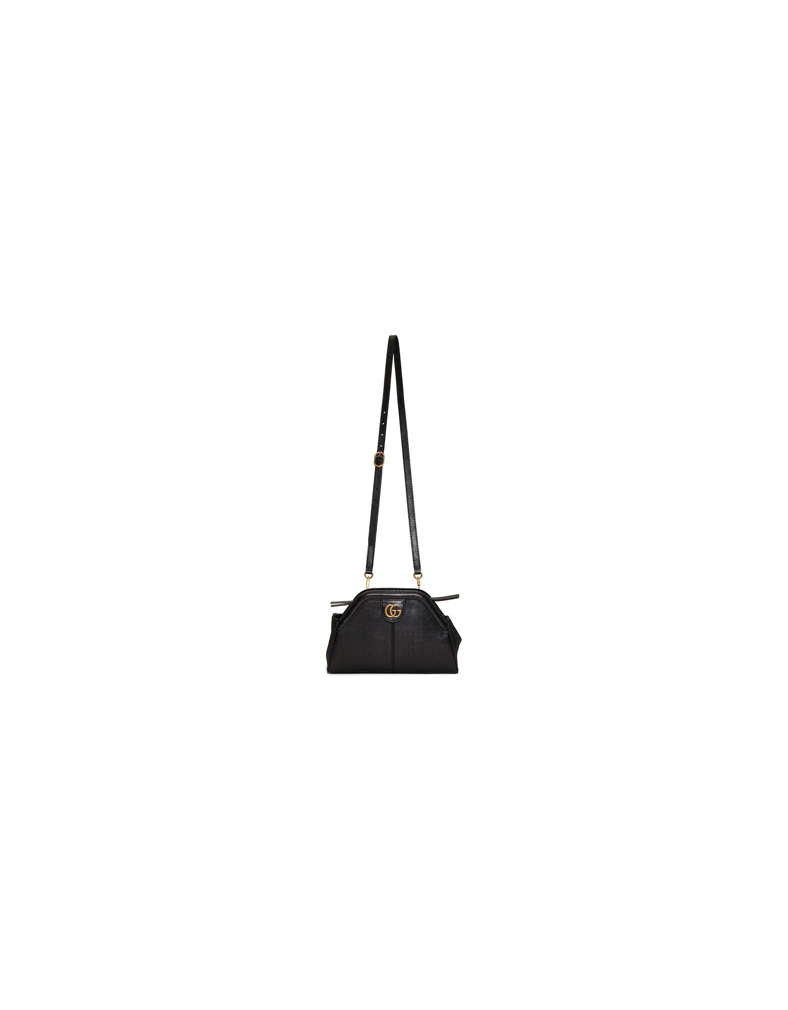 Gucci Designer Handbags, Black Small Linea Shoulder Bag