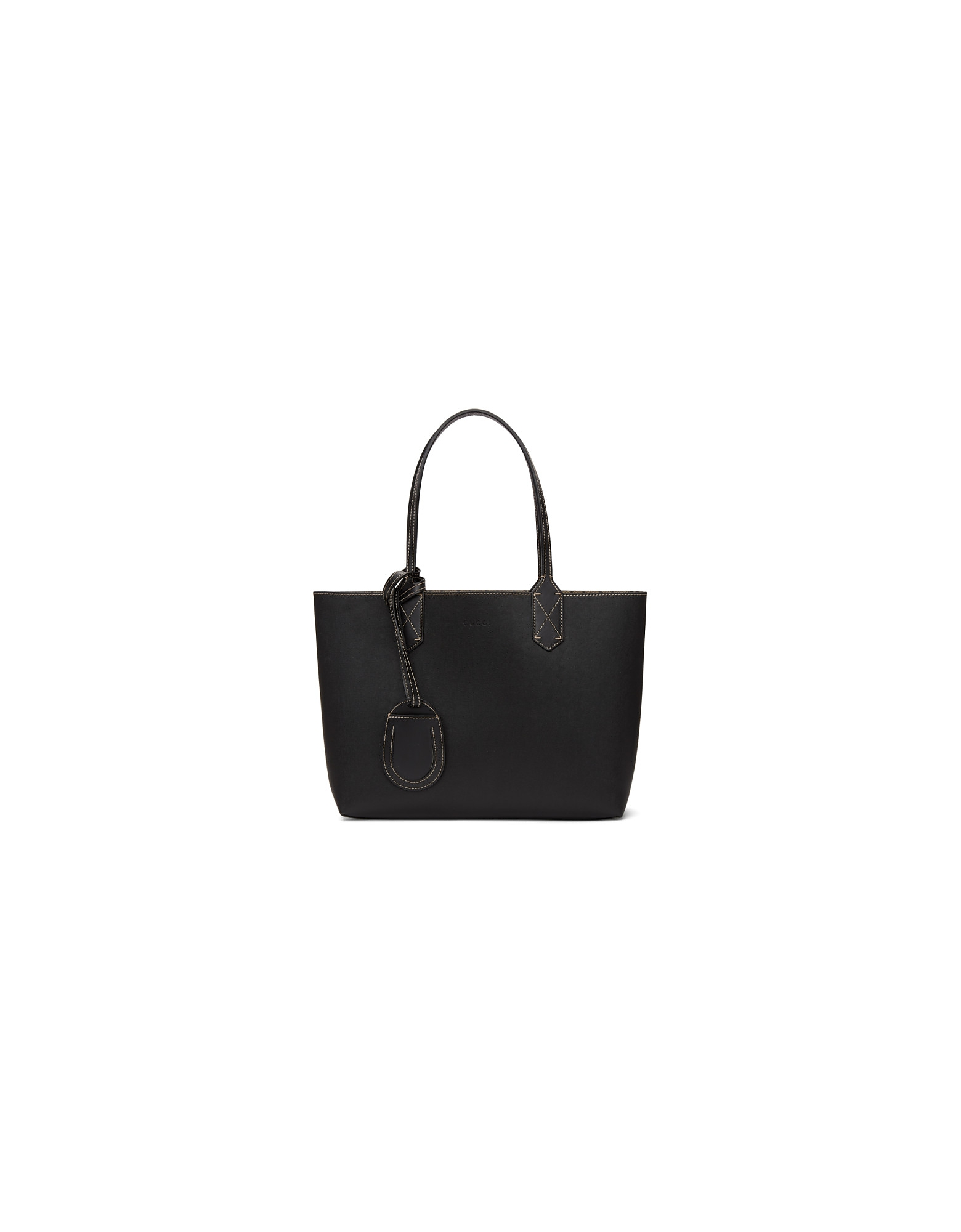 Gucci Designer Handbags, Reversible Black Small GG Tote