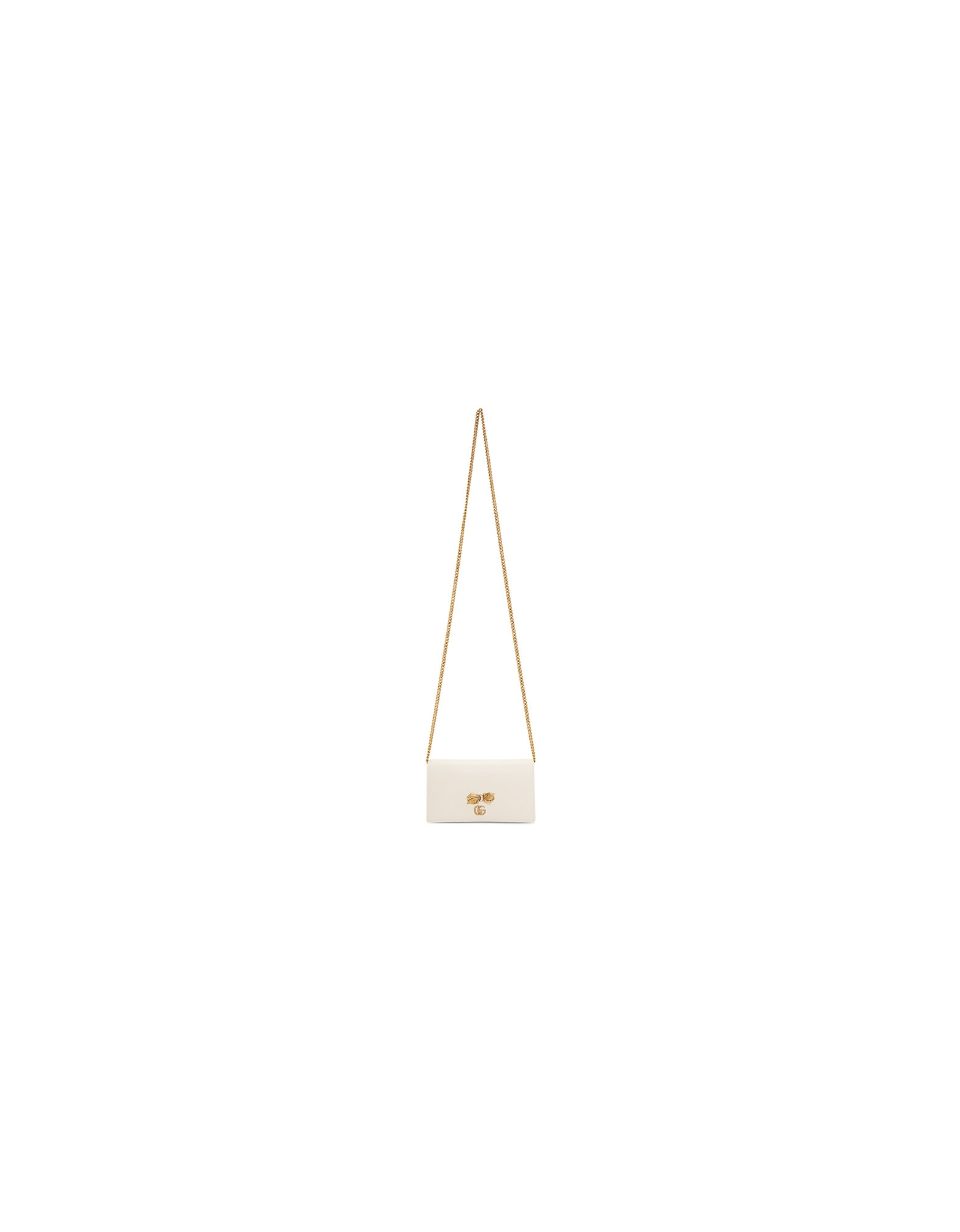 Gucci Designer Handbags, Off-White Bow Chain Wallet Bag