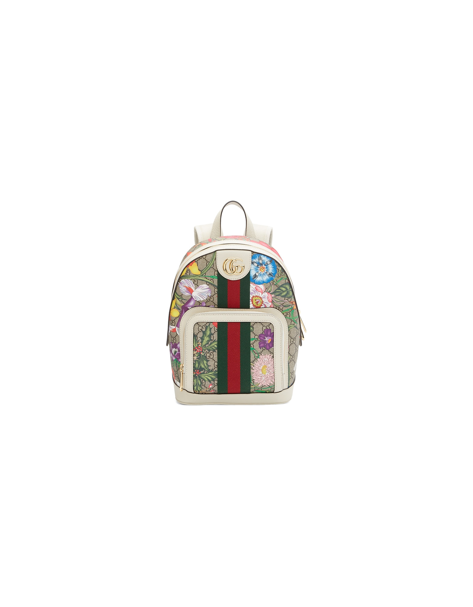 Gucci Designer Handbags, Multicolor Small GG Flora Ophidia Backpack