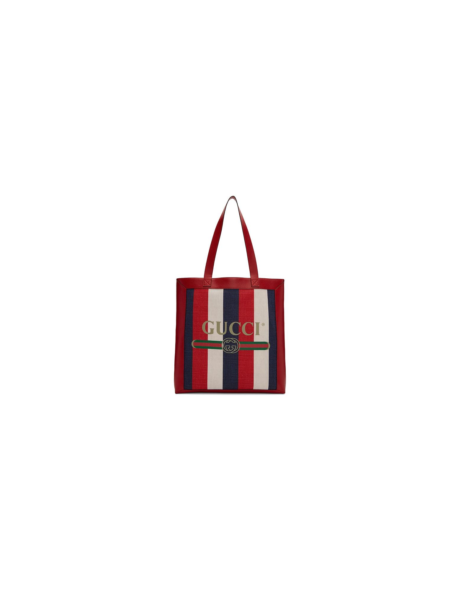 Gucci Designer Men's Bags, Tricolor Striped Tote