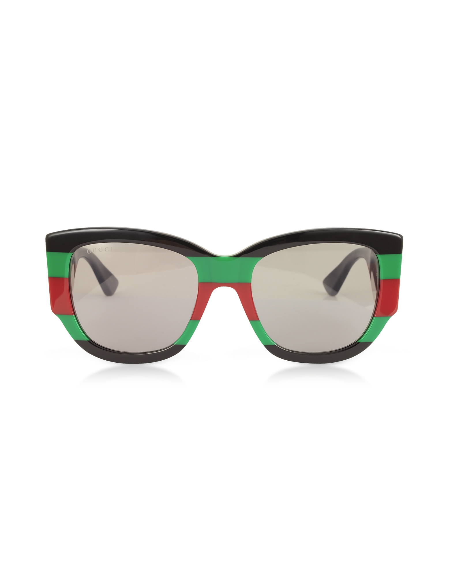 Gucci Designer Sunglasses, GG0276S Color Block Oversize Cat Eye Acetate Sunglassesw/Sylvie Web Temples