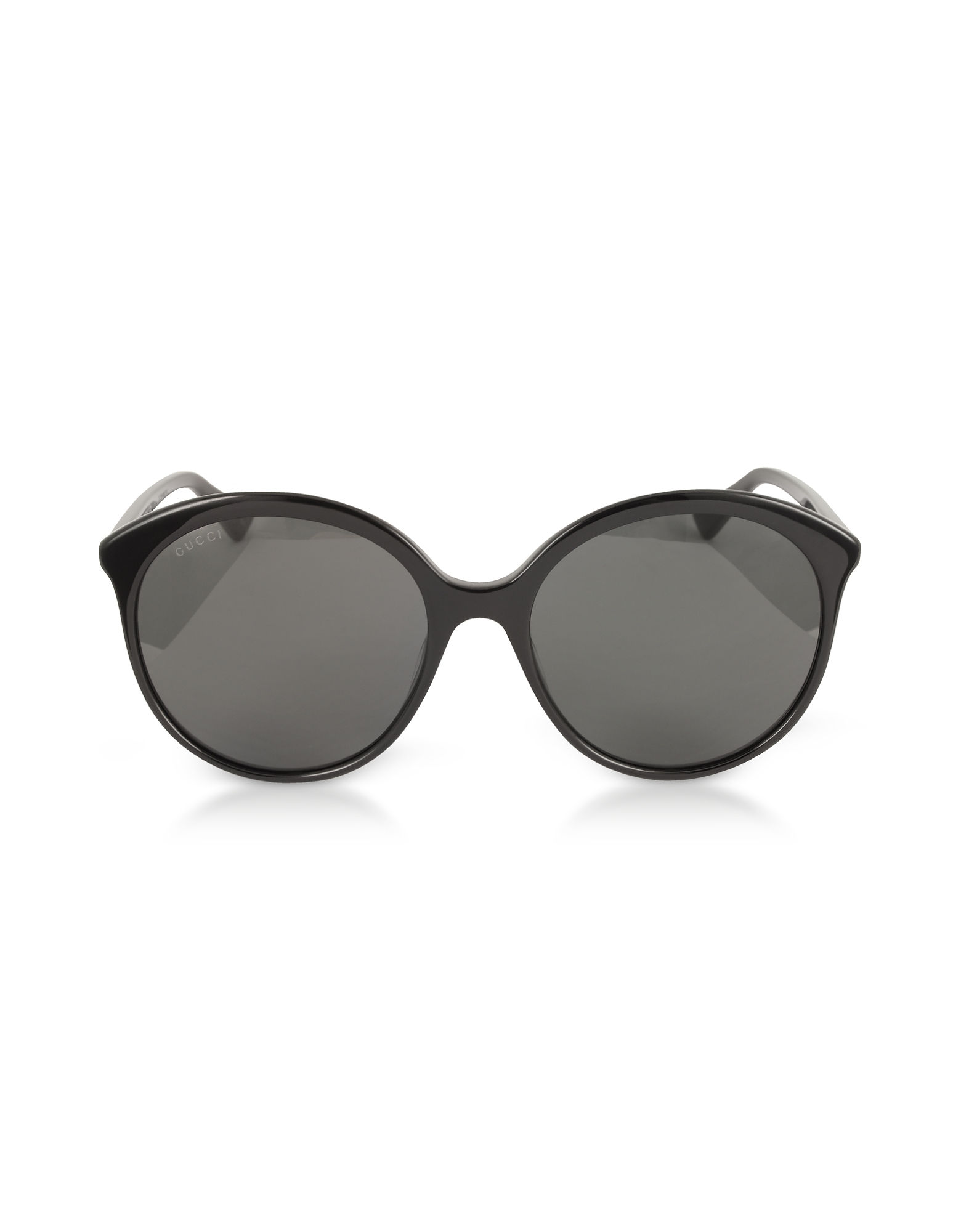 Gucci Designer Sunglasses, GG0257S Specialized Fit Round-frame Black Acetate Sunglasses