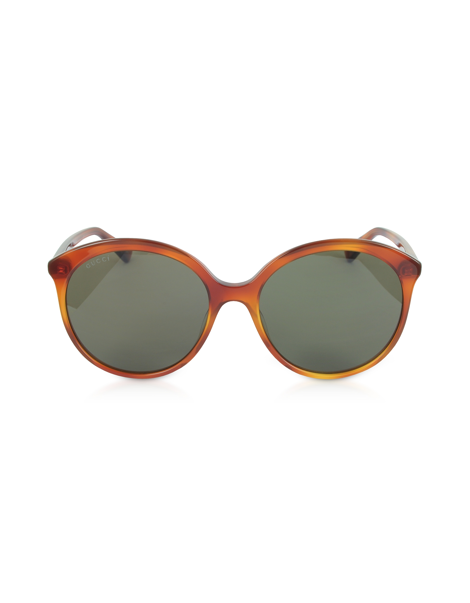 Gucci Designer Sunglasses, GG0257S Specialized Fit Round-frame Havana Brown Acetate Sunglasses