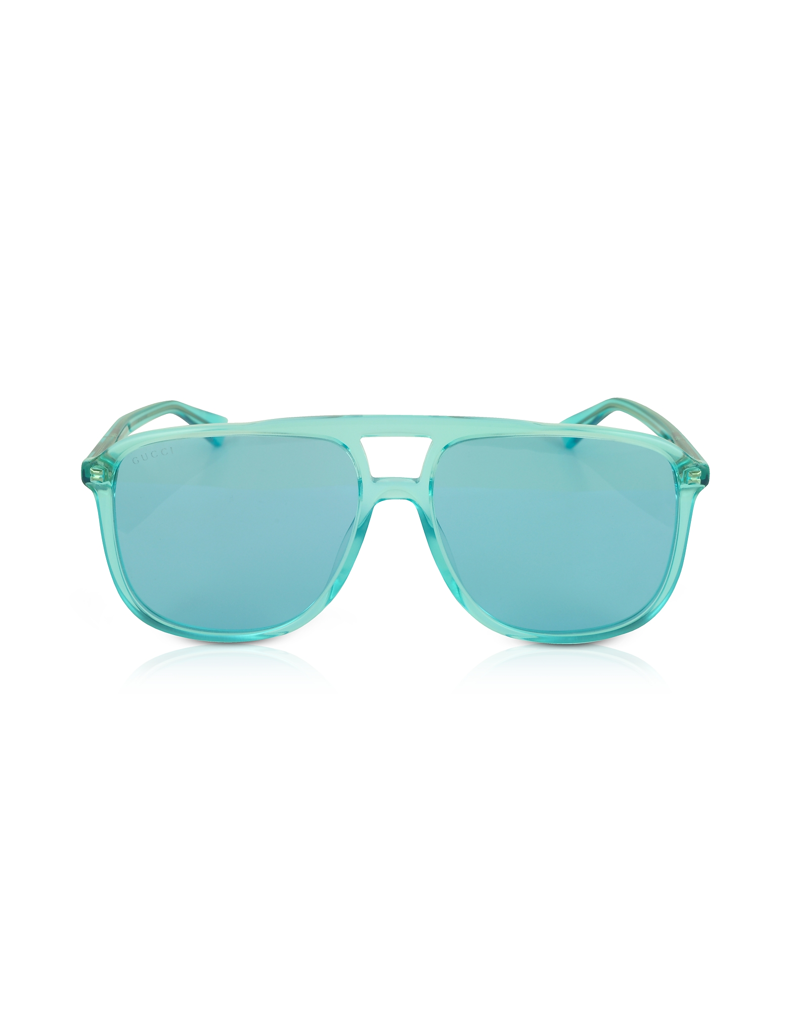 Gucci Sunglasses, GG0262S Rectangular-frame Blue Acetate Sunglasses