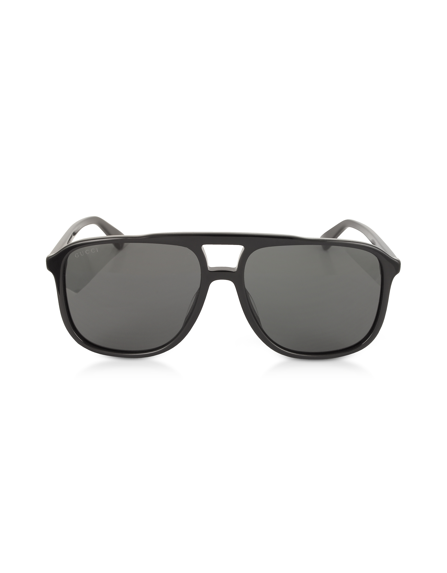 Gucci Designer Sunglasses, GG0262S Rectangular-frame Black Acetate Sunglasses