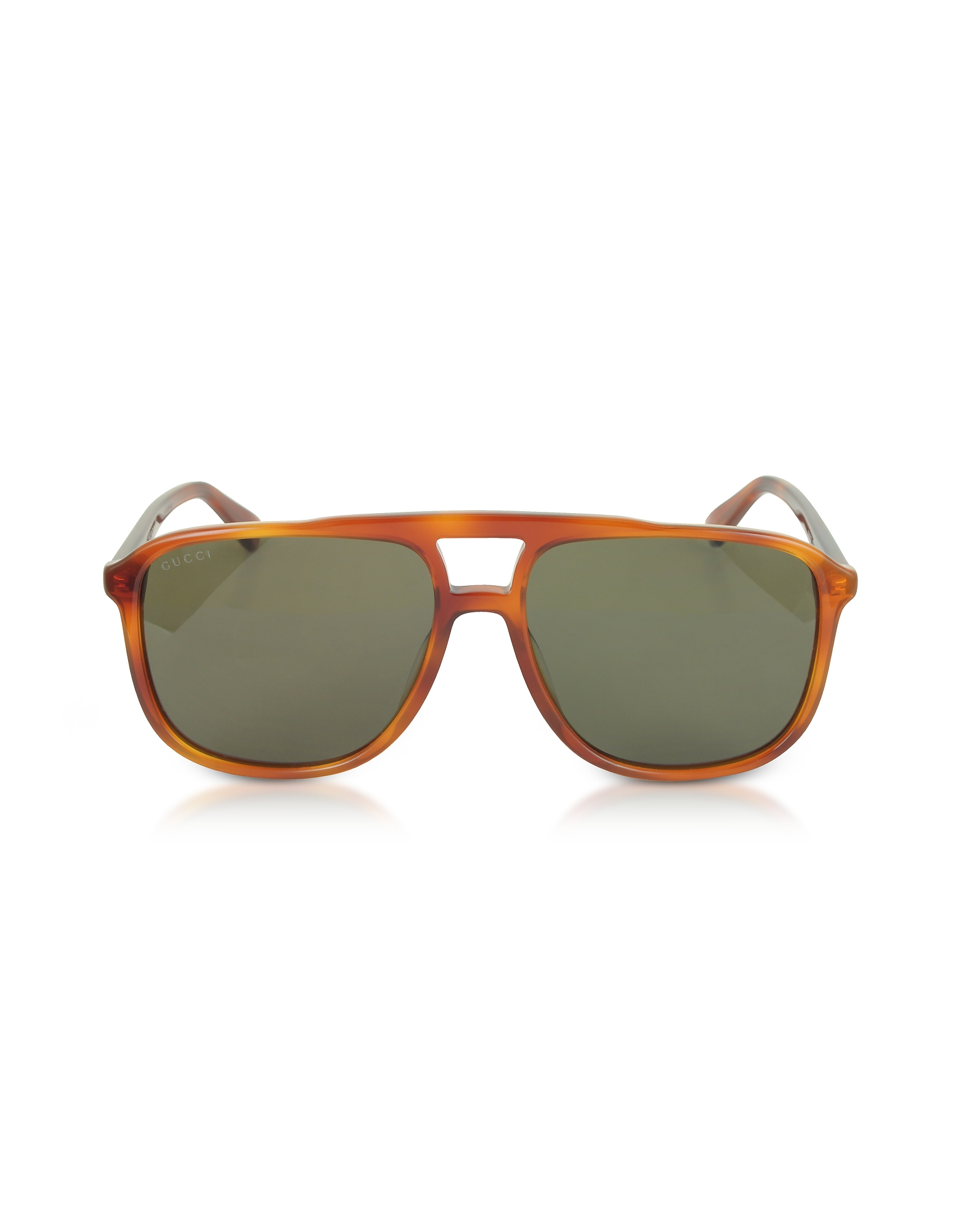 Gucci Designer Sunglasses, GG0262S Rectangular-frame Light Havana Brown Acetate Sunglasses