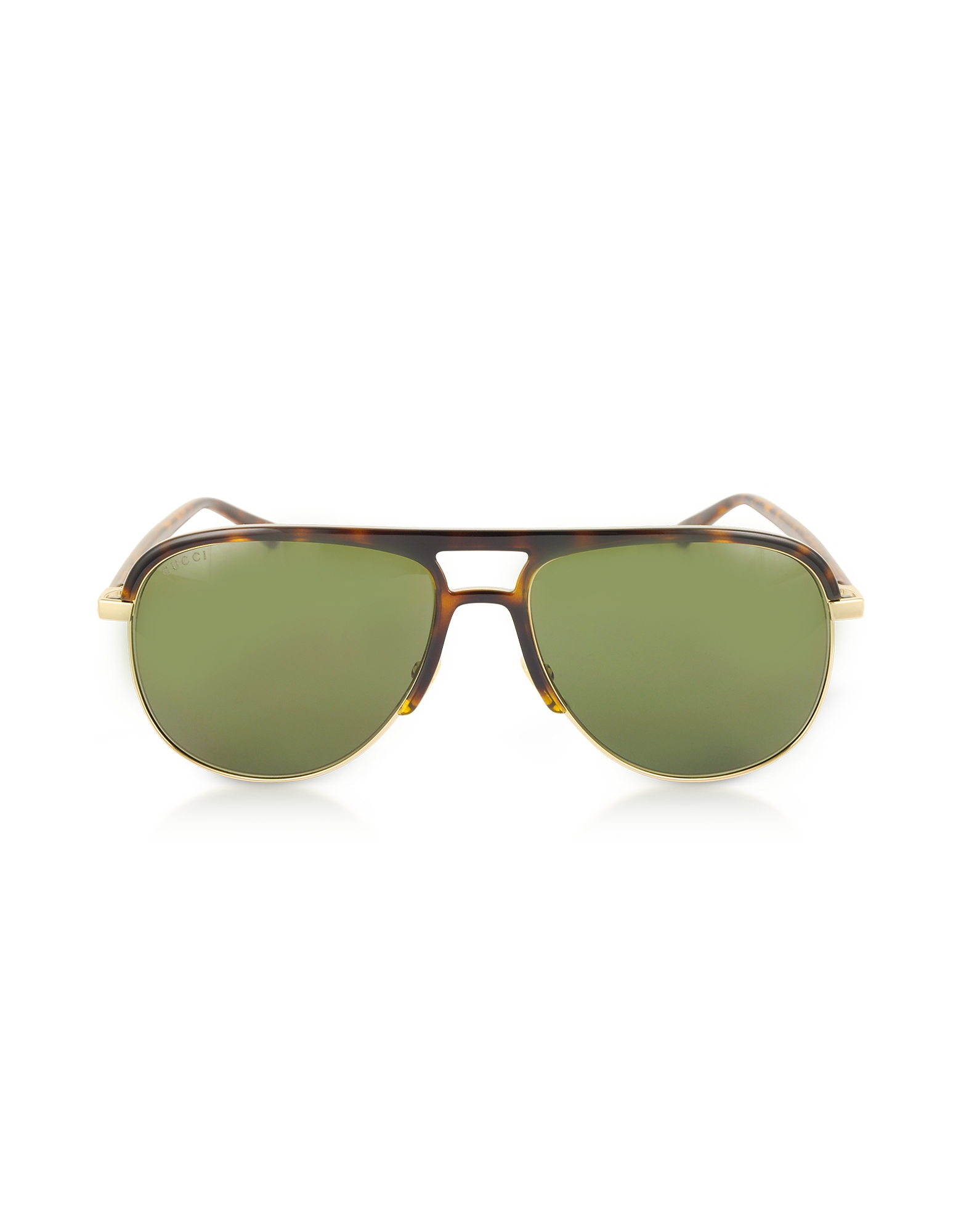 GG0292S Metal and Acetate Frame Aviator Sunglasses