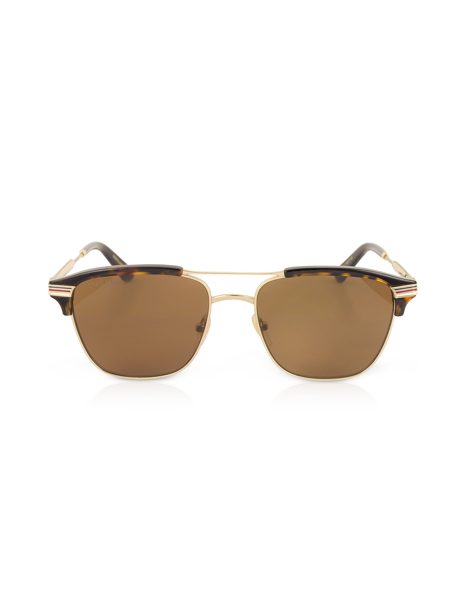 Gucci Designer Sunglasses, GG0241S 002 Square-frame Metal Sunglasses