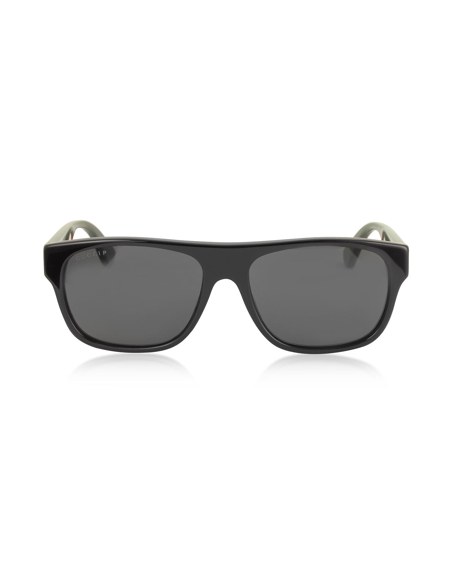 Gucci Sunglasses, GG0341S Rectangular-frame Acetate Sunglasses