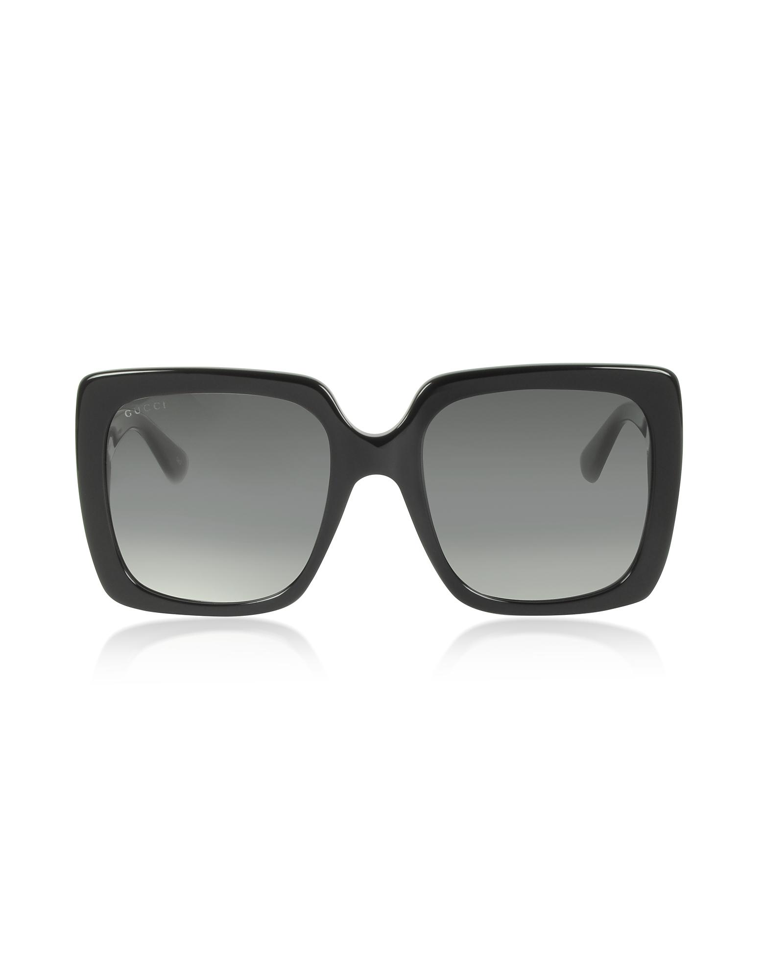 GG0418S Rectangular-frame Acetate Sunglasses
