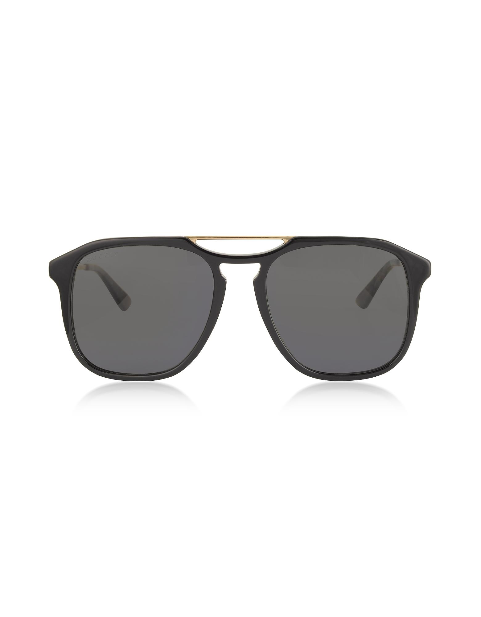 Gucci Designer Sunglasses, Square-frame Acetate Sunglasses