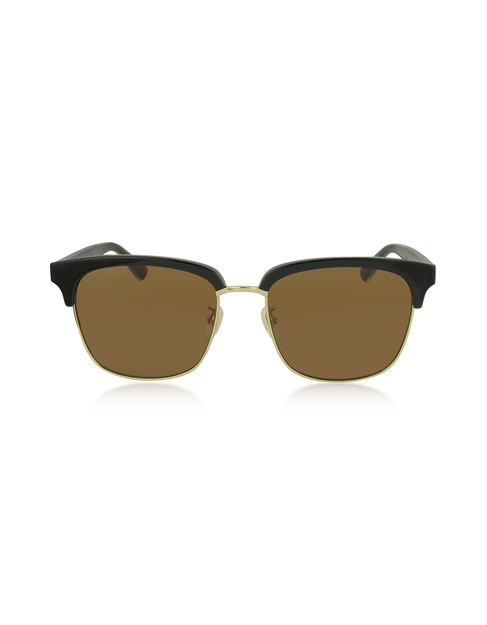 Gucci Designer Sunglasses, Rectangular-frame Metal Sunglasses