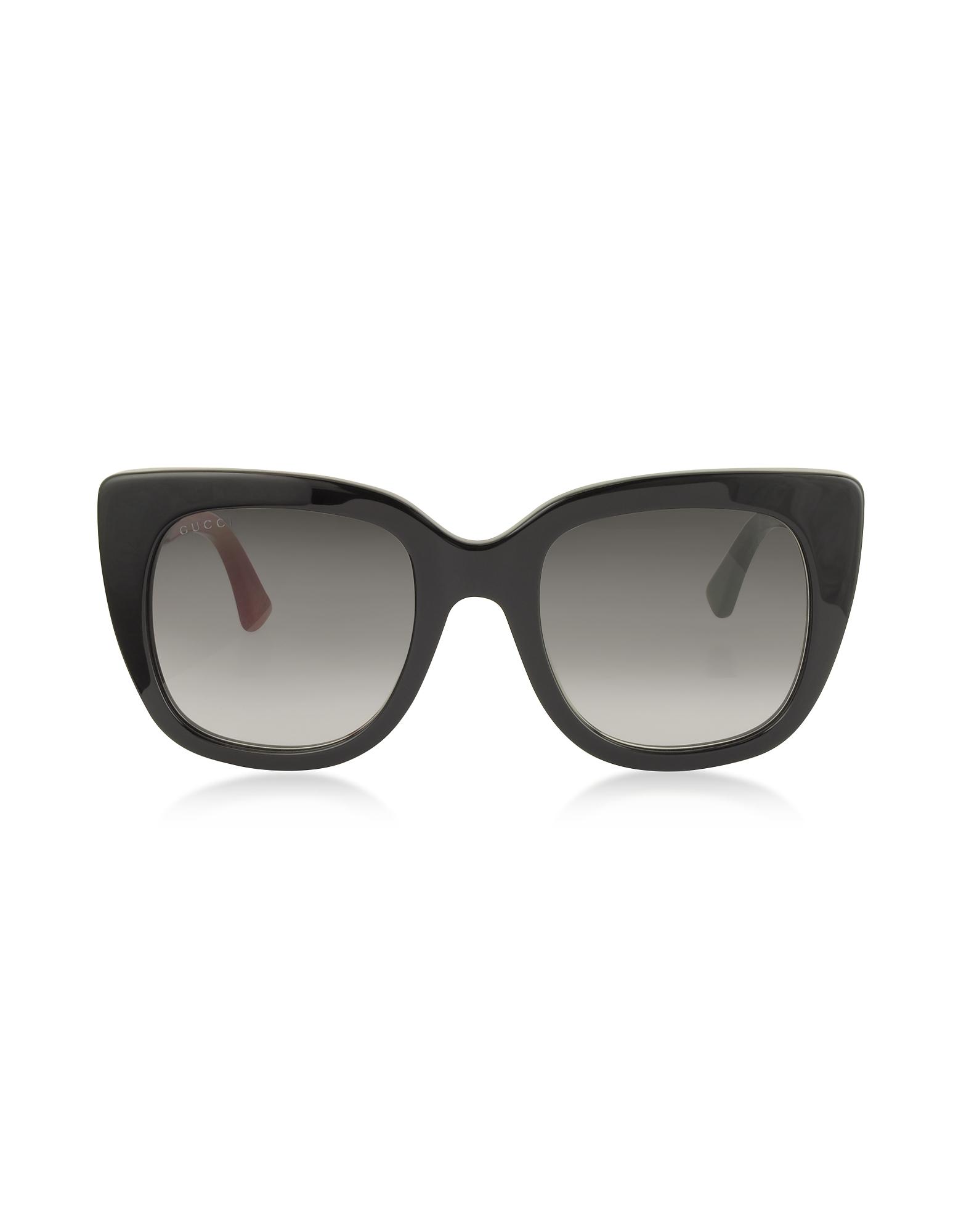 Gucci Designer Sunglasses, Squared-frame Optyl Sunglasses w/Web Temples