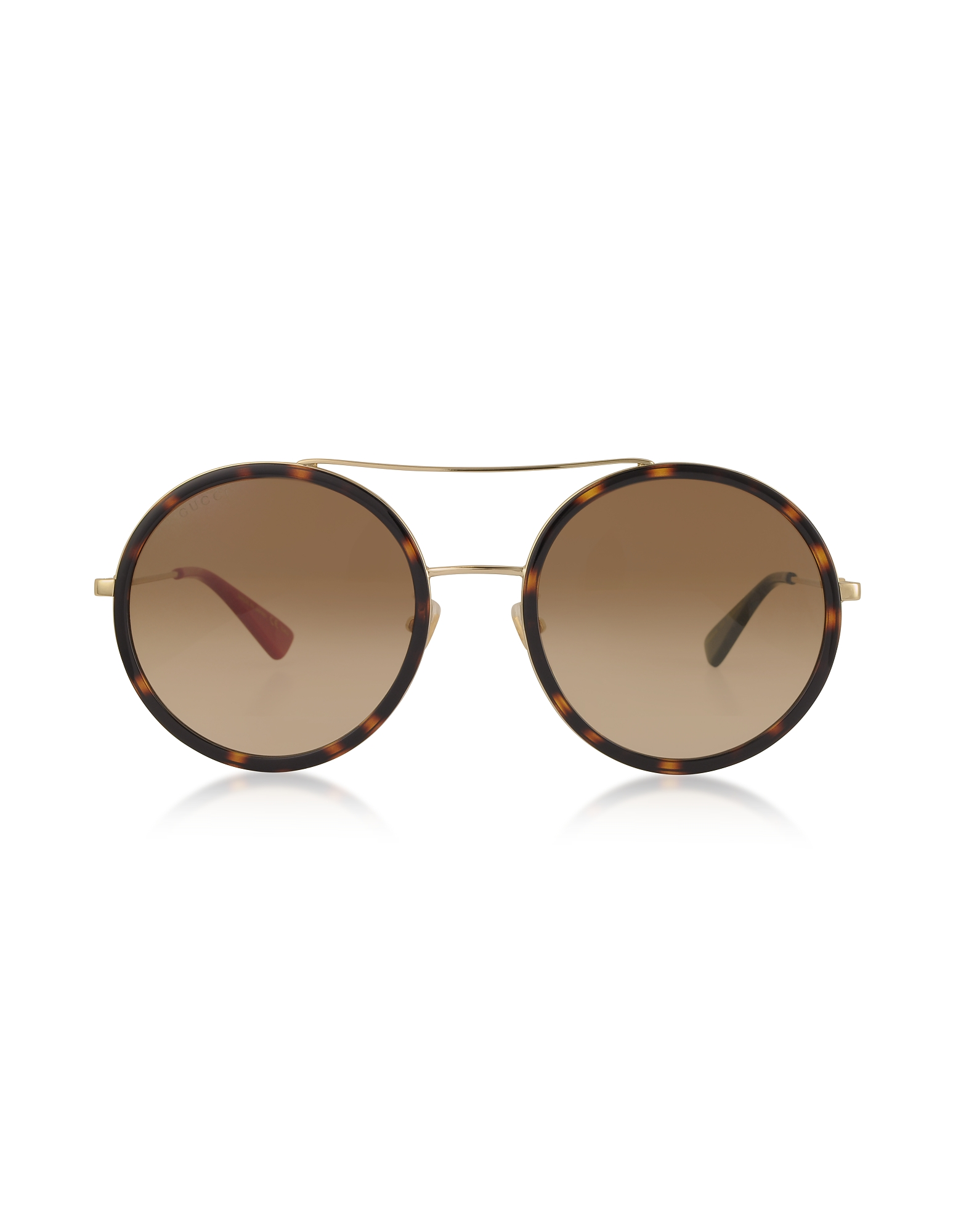 Gucci Designer Sunglasses, Round-frame Metal Sunglasses