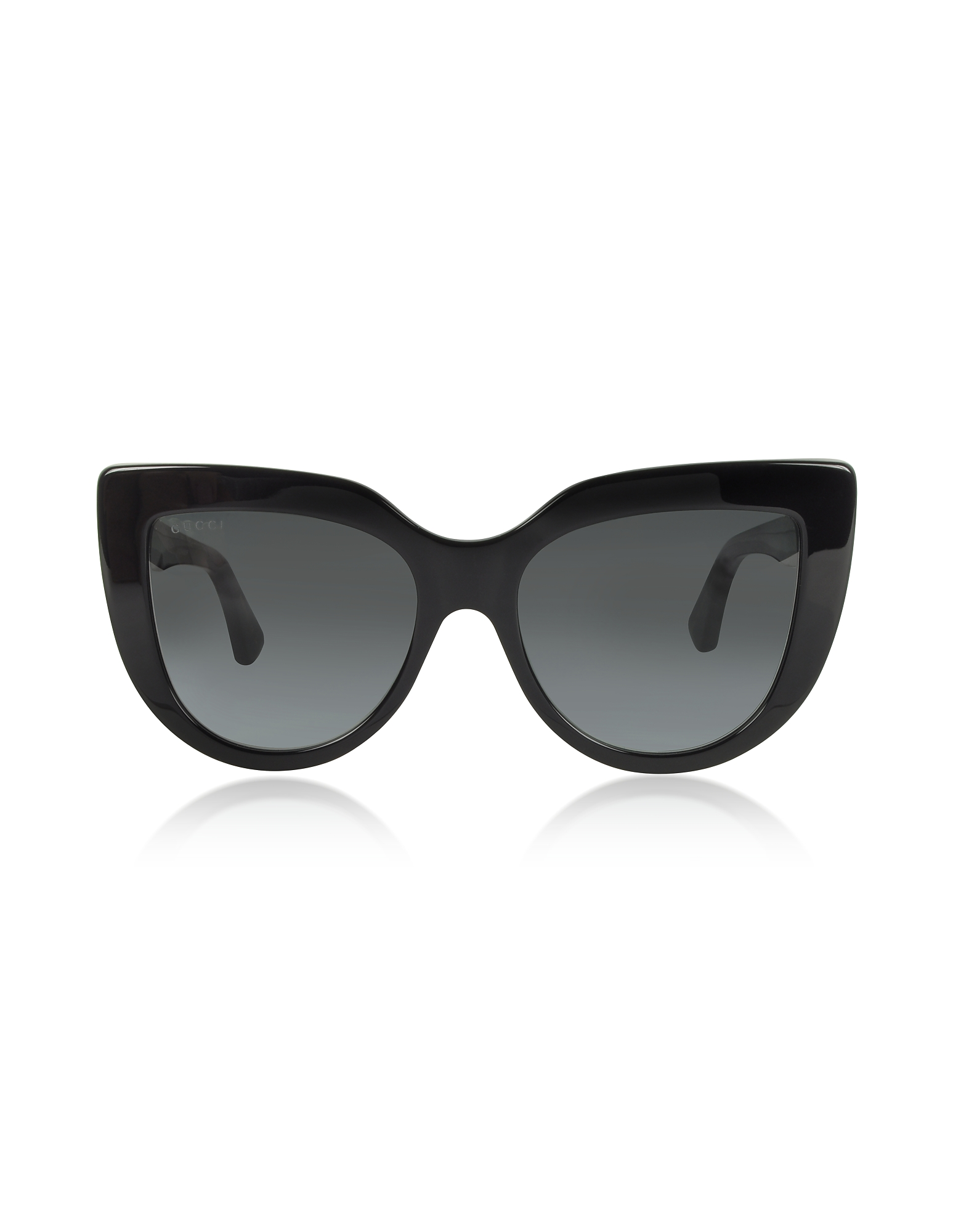 Gucci Sunglasses, GG0164S 001 Black Optyl Cat-Eye Women's Sunglasses