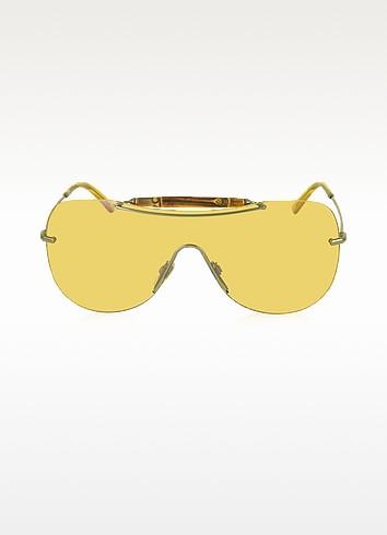 GG 4262/S Bamboo and Metal Shield Women's Sunglasses - Gucci