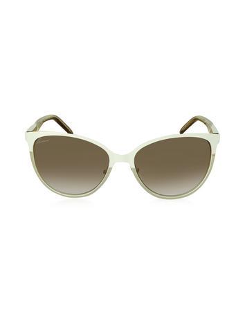 Lux-ID 210523 GG 4255/S 4SM6Y White Acetate Women's Sunglasses