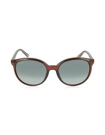 Lux-ID 210533 GG 3697/S IPUDX Round Havana Women's Sunglasses