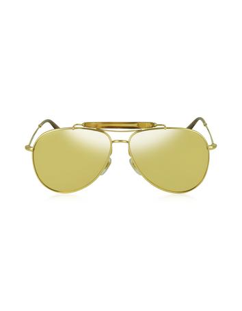 Lux-ID 210534 GG 2235/N/S 705IJ Gold Plated Aviator with Bamboo Women's Sunglasses