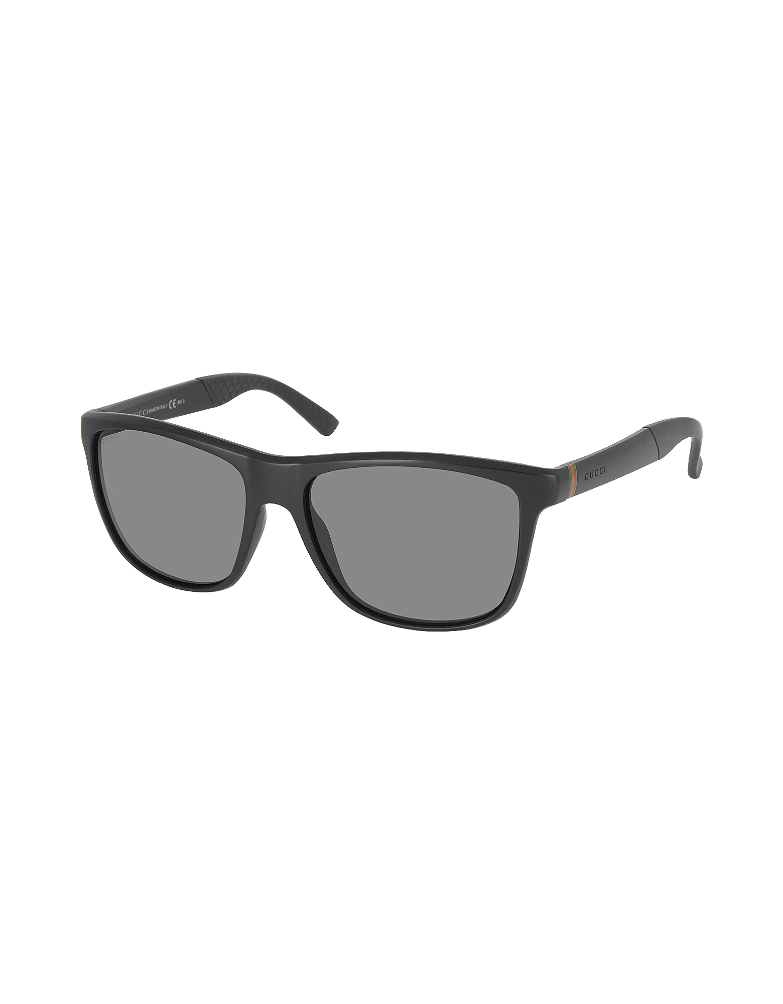 GG 1047/S DL5P9 Black Men's Sunglasses with Rubber Detail от Forzieri.com INT