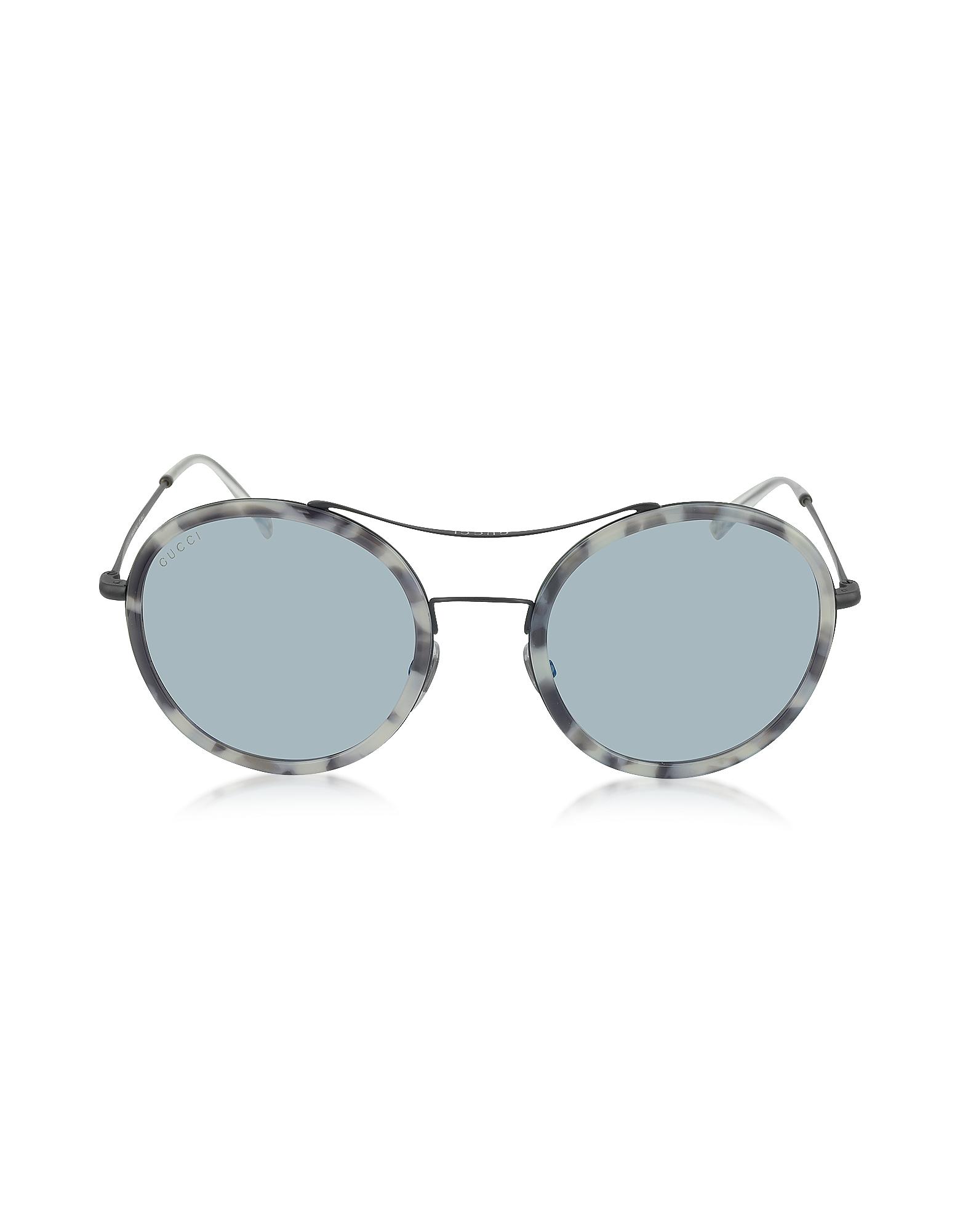 GG 4252/N/S - Женские Солнечные Очки в Очень Легкой Круглой Оправе из Ацетата