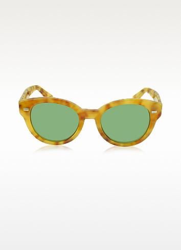GG 3745/S Havana Acetate Round Frame Sunglasses - Gucci