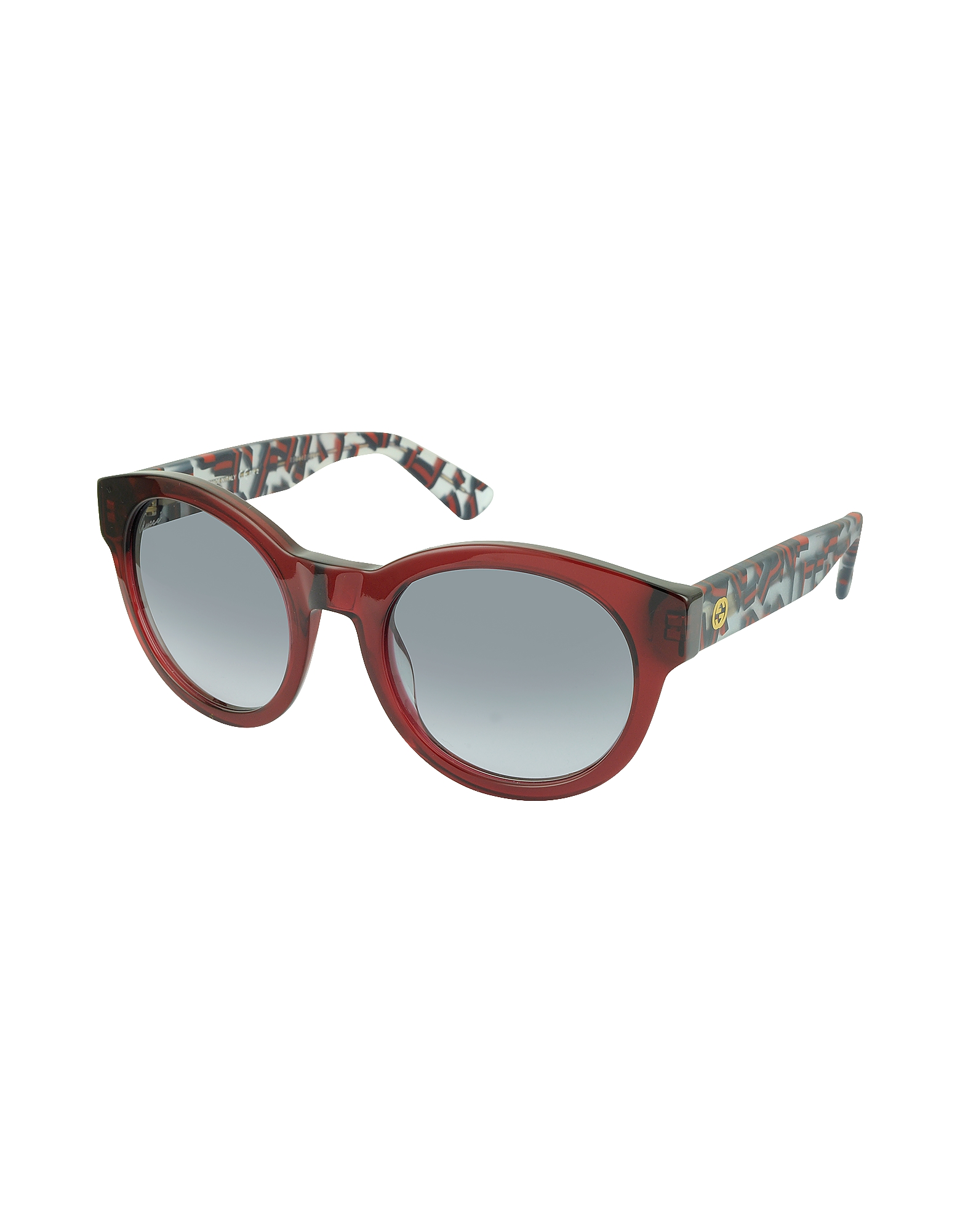 GG 3763/S Acetate Round Sunglasses w/Red & Green Web Detail от Forzieri INT