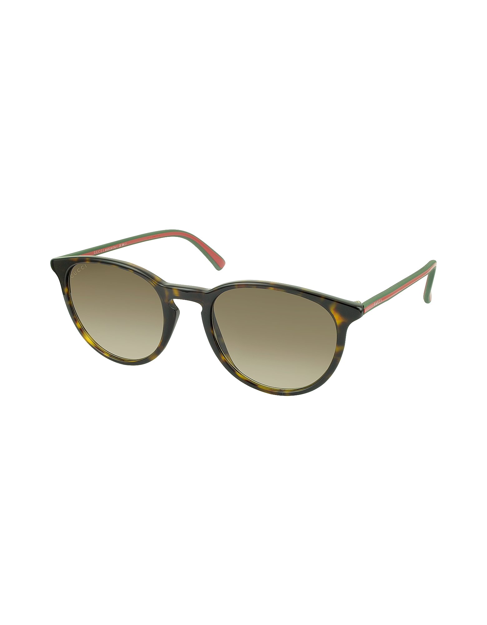 GG 1102/S Acetate Round Sunglasses w/Red & Green Temples от Forzieri.com INT